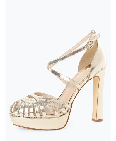 Damskie skórzane sandały na obcasie – Marigold