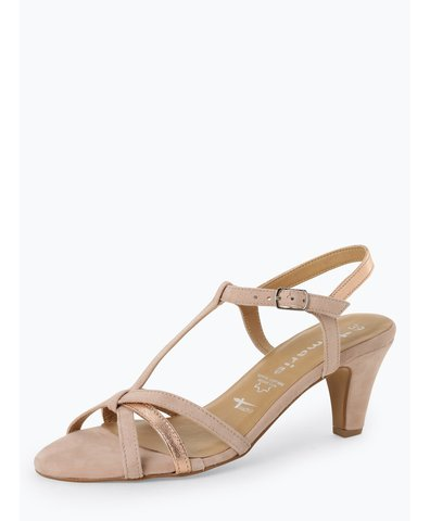 Damskie skórzane sandały na obcasie