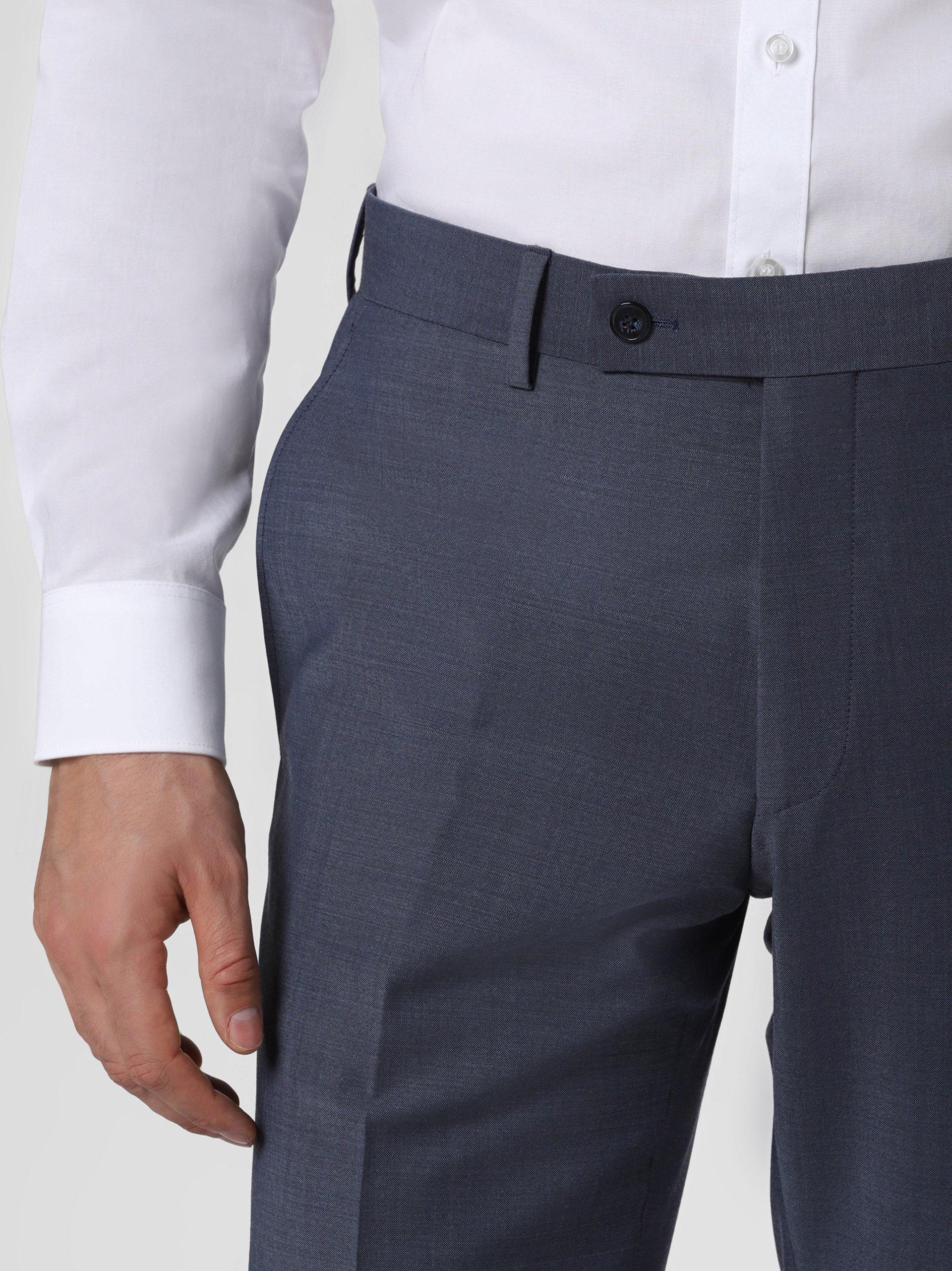 Daniel Hechter Męskie spodnie od garnituru modułowego z wełny merino