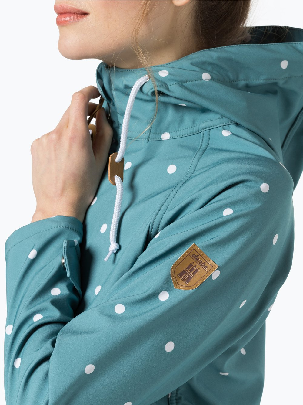 Derbe Damen Softshelljacke Island Friese Dots online