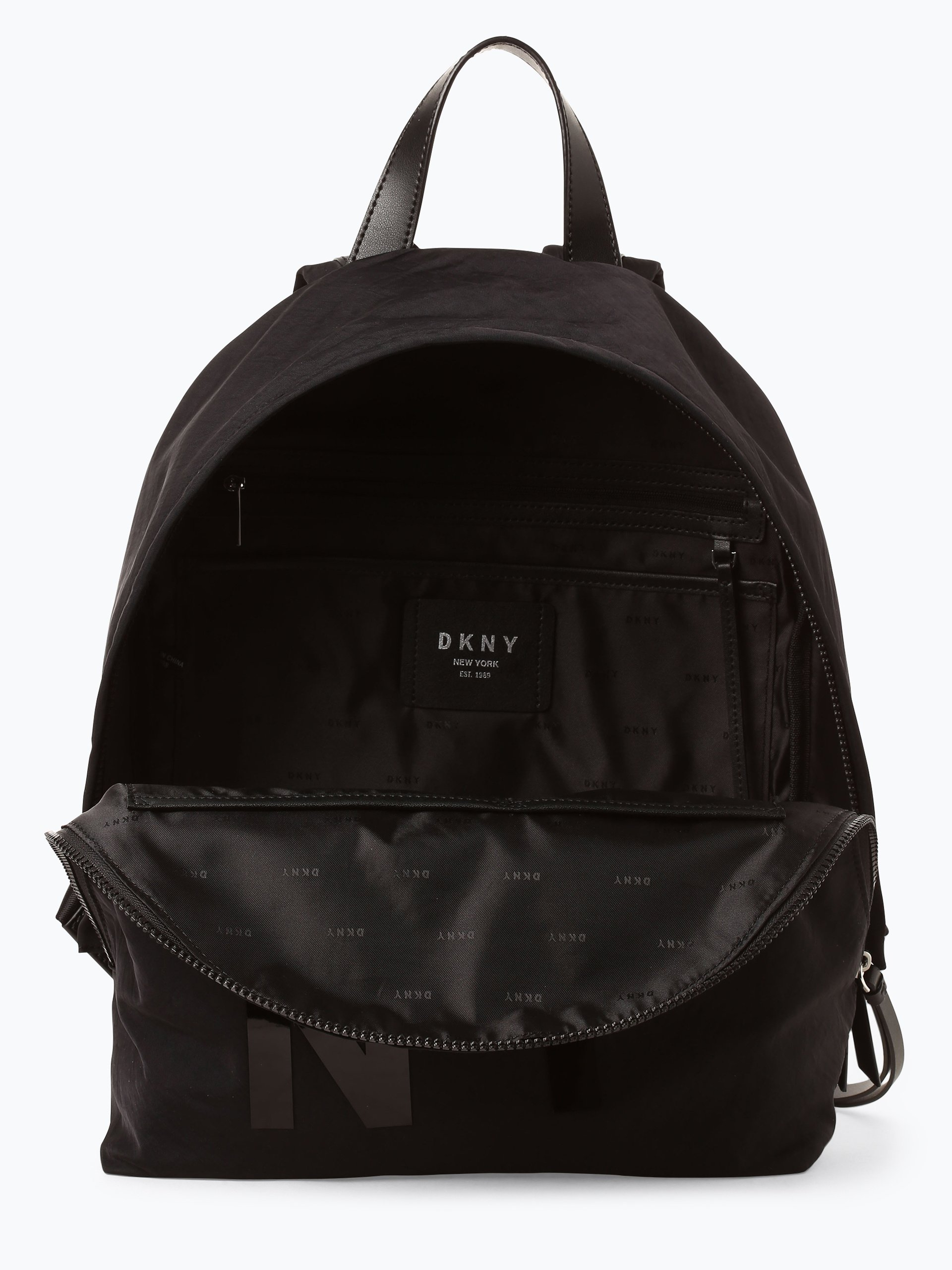 dkny damen rucksack schwarz uni online kaufen peek und cloppenburg de. Black Bedroom Furniture Sets. Home Design Ideas
