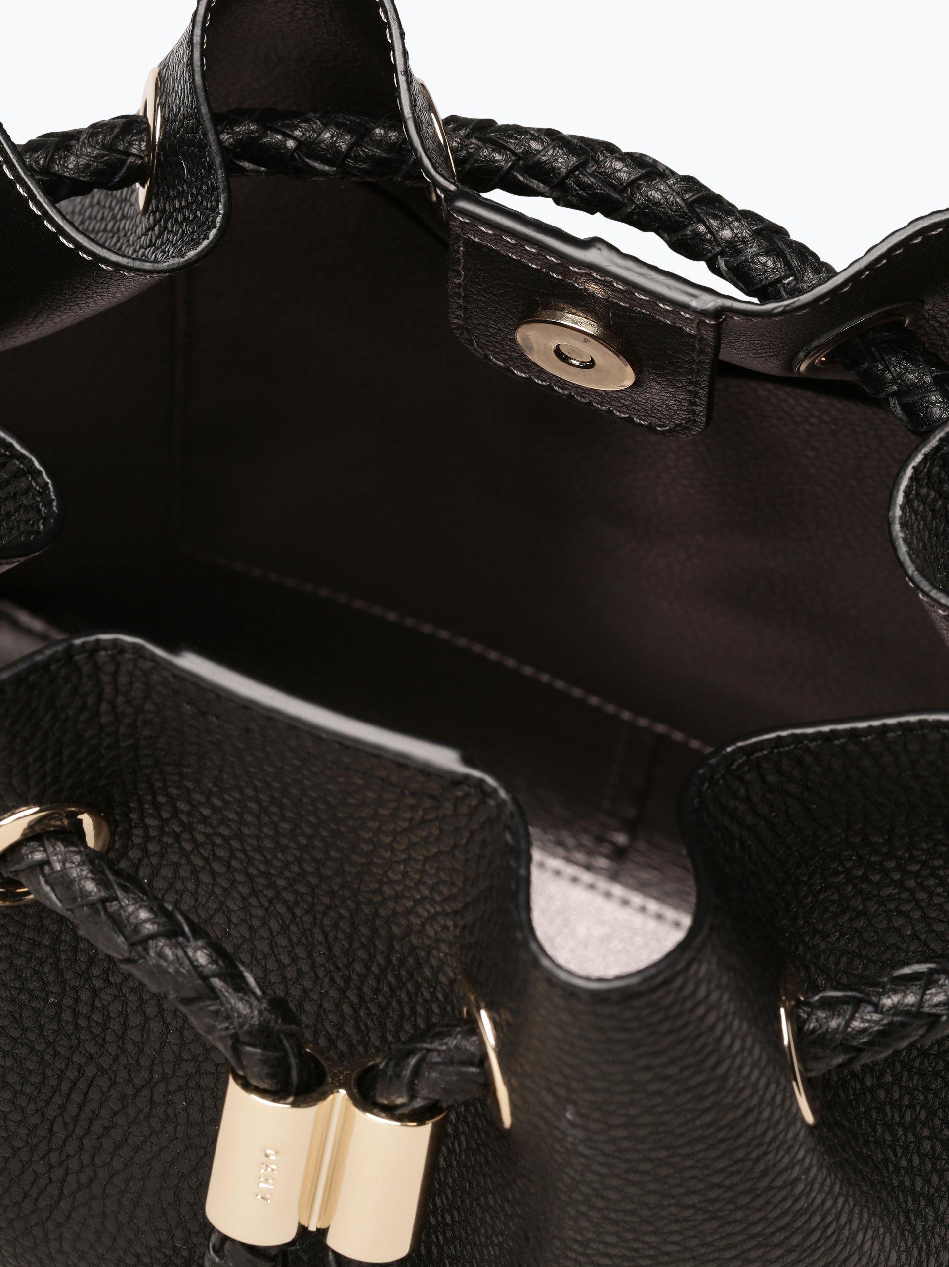 dkny damen umh ngetasche aus leder schwarz uni online kaufen peek und cloppenburg de. Black Bedroom Furniture Sets. Home Design Ideas