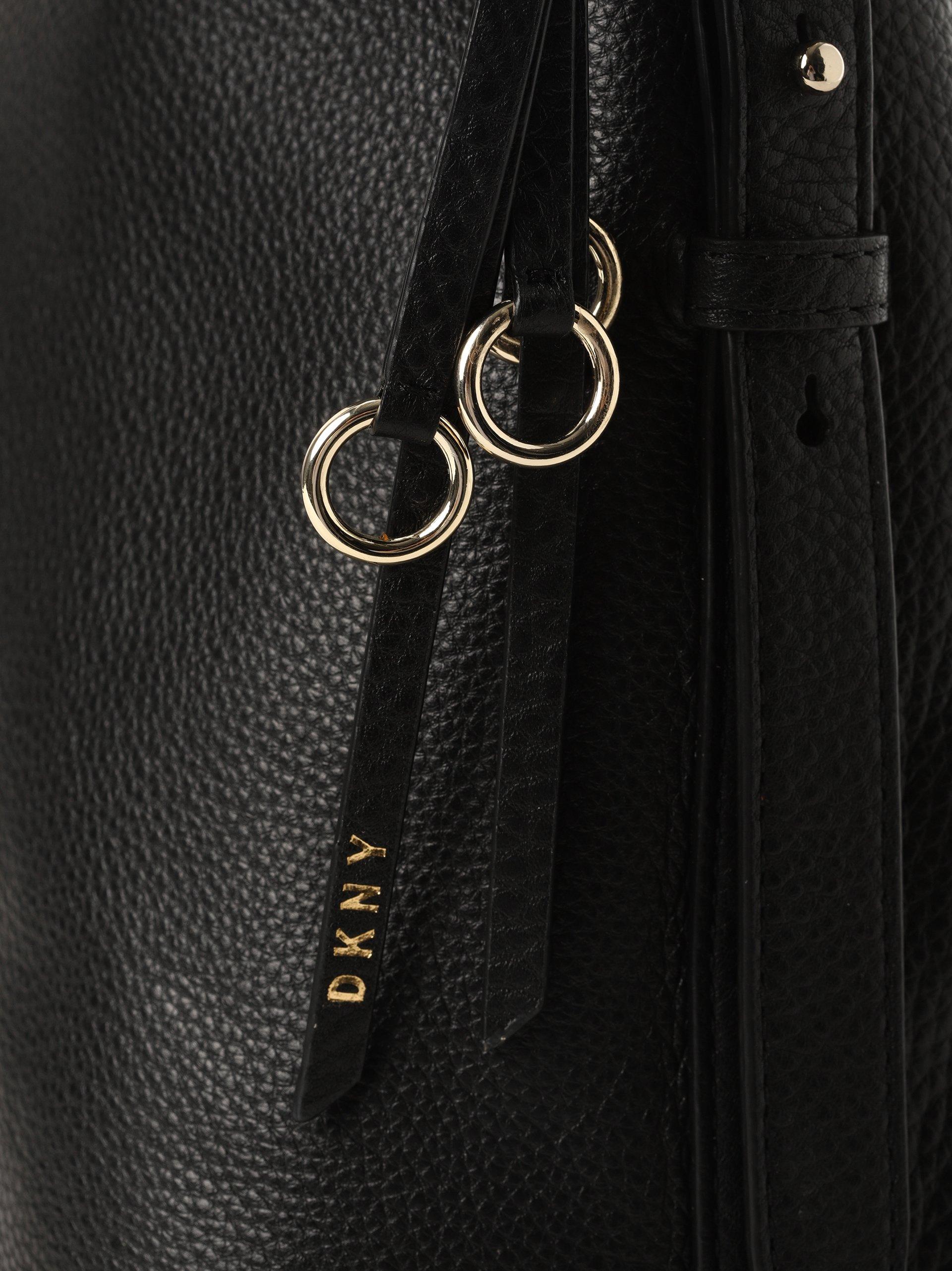 DKNY Damska torba shopper ze skóry
