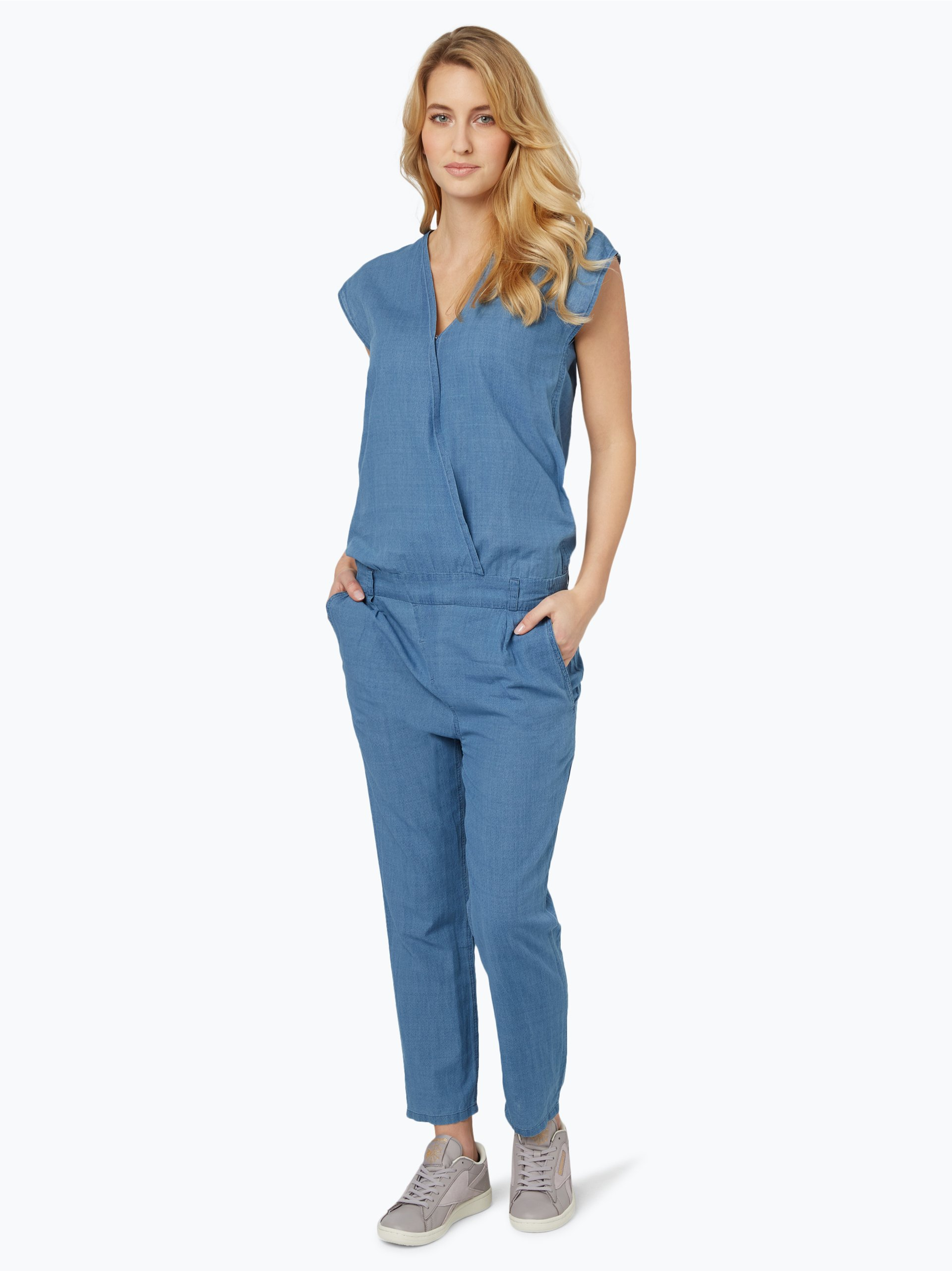 drykorn damen jeans jumpsuit tova blau uni online kaufen vangraaf com. Black Bedroom Furniture Sets. Home Design Ideas