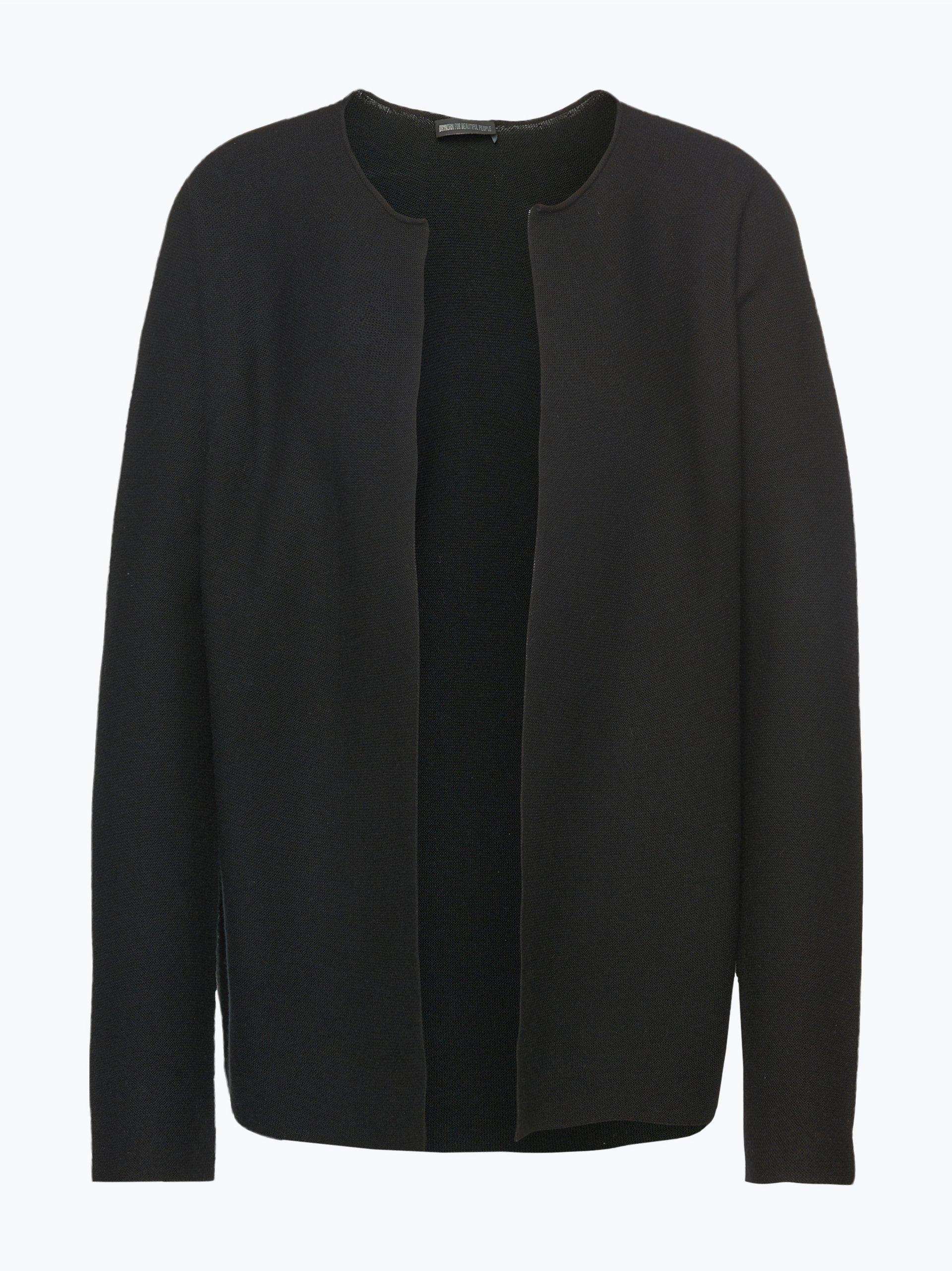 drykorn damen strickjacke mit cashmere anteil kibi schwarz uni online kaufen vangraaf com. Black Bedroom Furniture Sets. Home Design Ideas