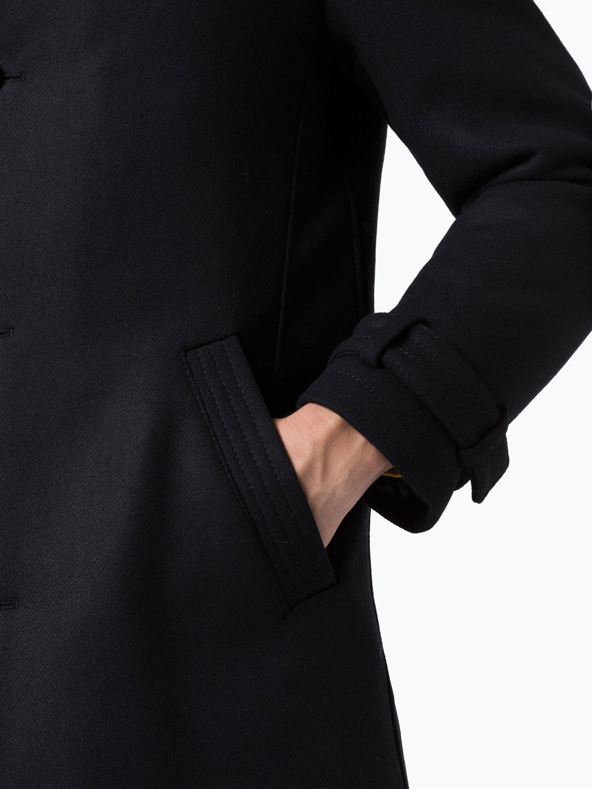 drykorn herren mantel onnex schwarz uni online kaufen. Black Bedroom Furniture Sets. Home Design Ideas