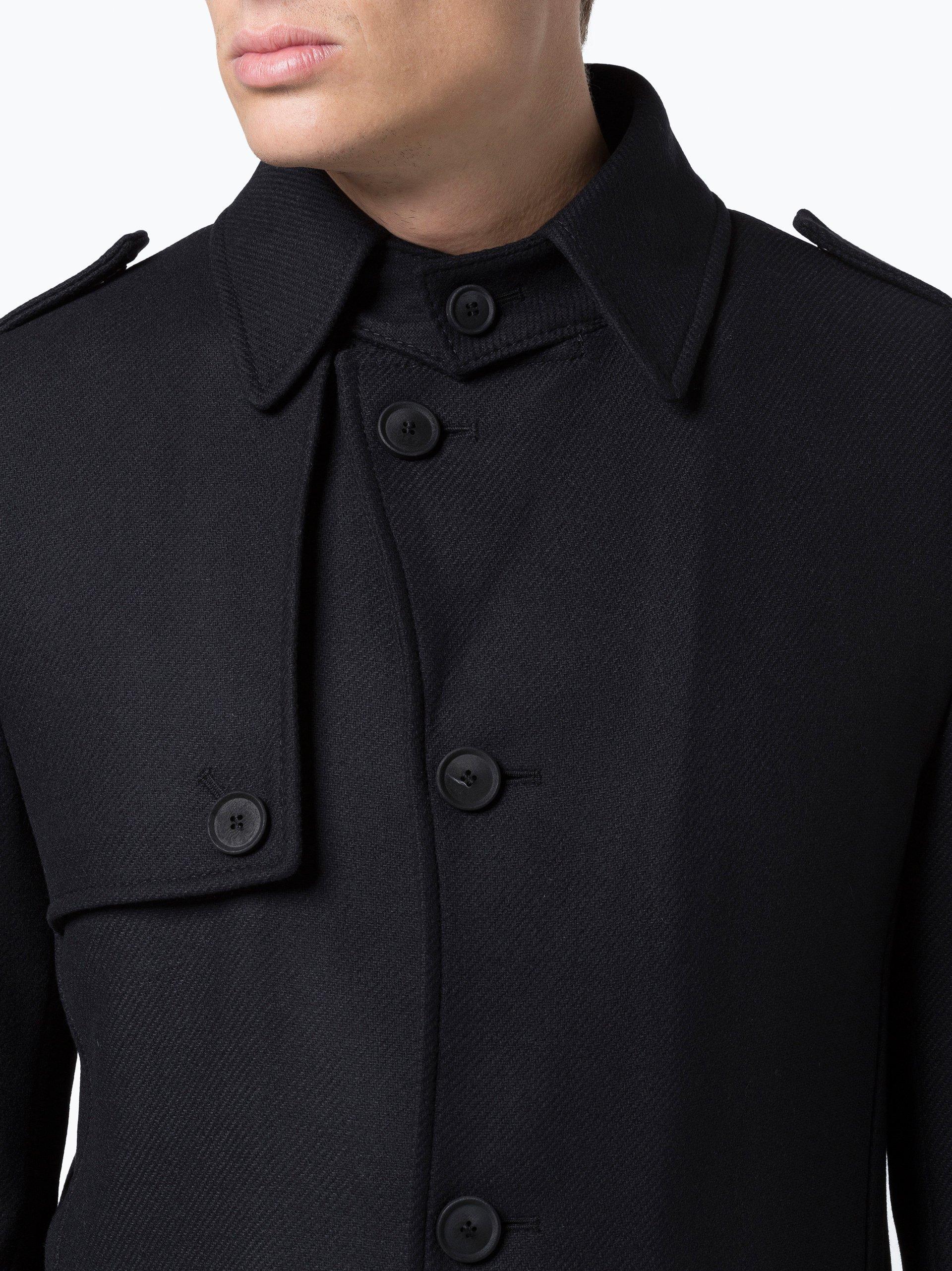 drykorn herren mantel skopje schwarz uni online kaufen. Black Bedroom Furniture Sets. Home Design Ideas