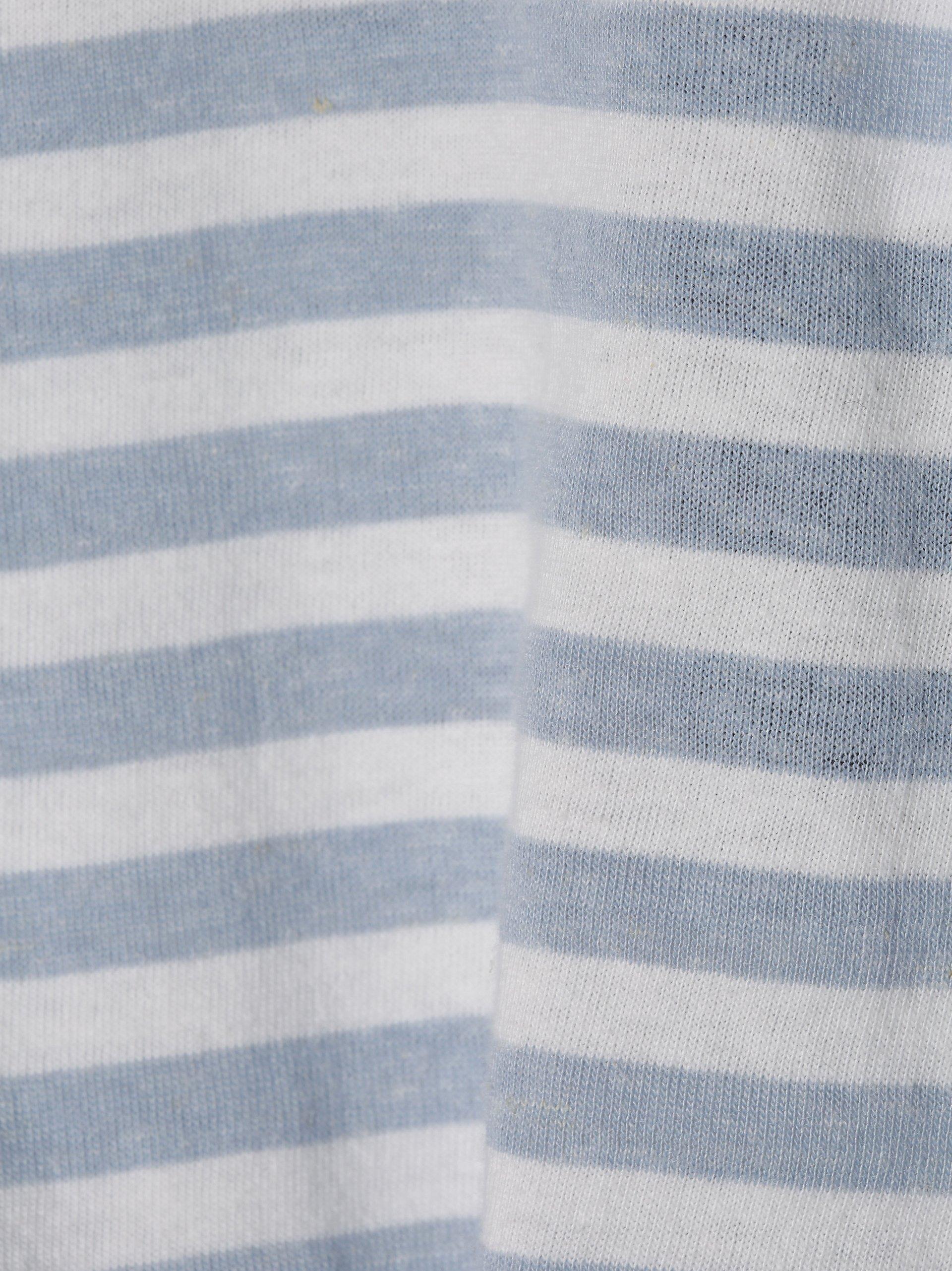 Drykorn T-shirt męski z dodatkiem lnu – Samuel