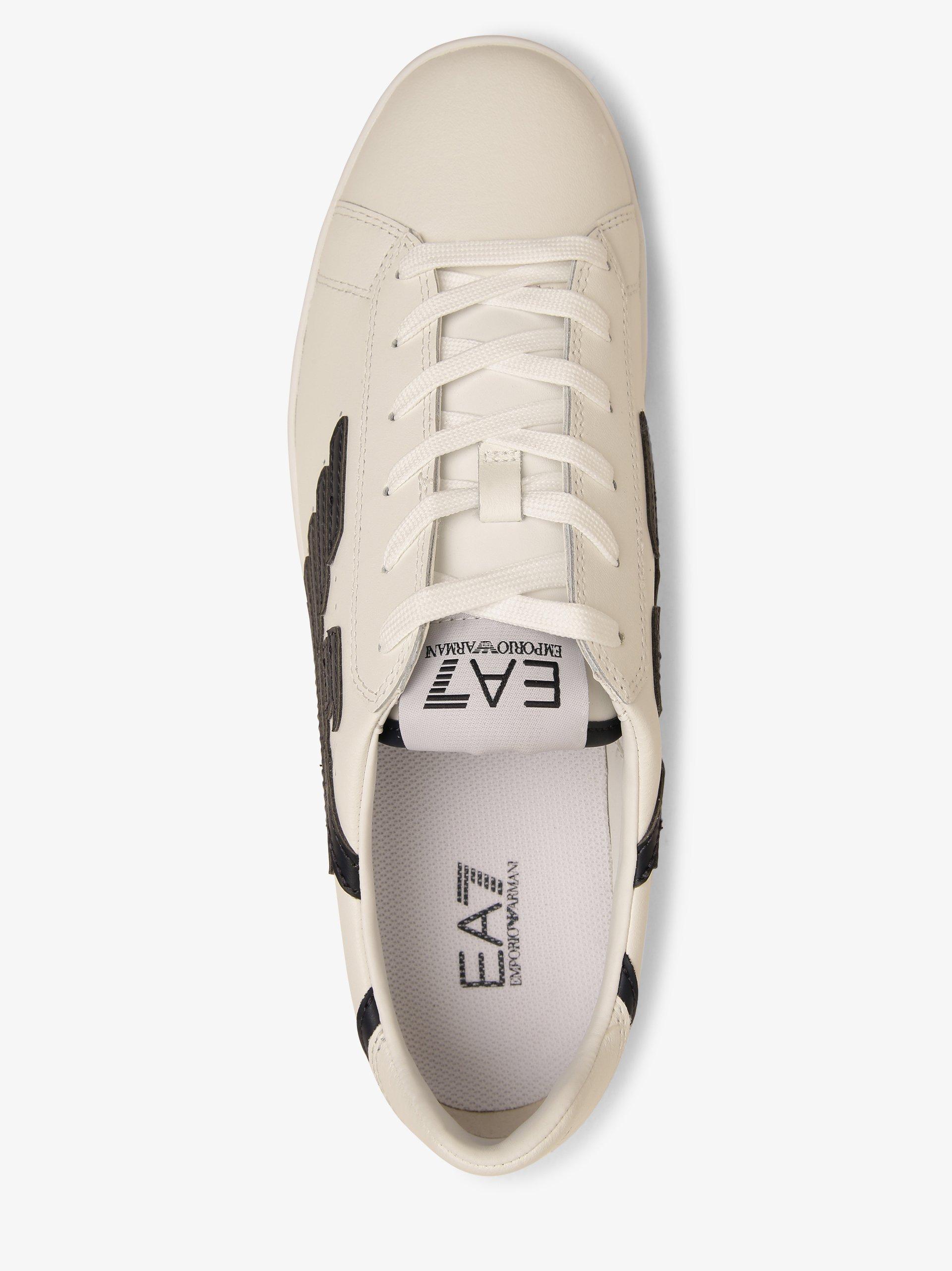 EA7 Emporio Armani Męskie tenisówki ze skóry