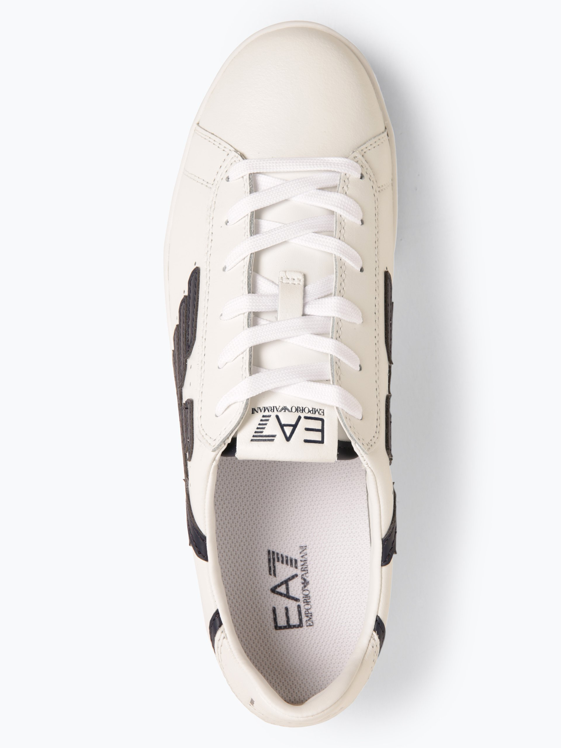 EA7 Emporio Armani Tenisówki męskie z dodatkiem skóry