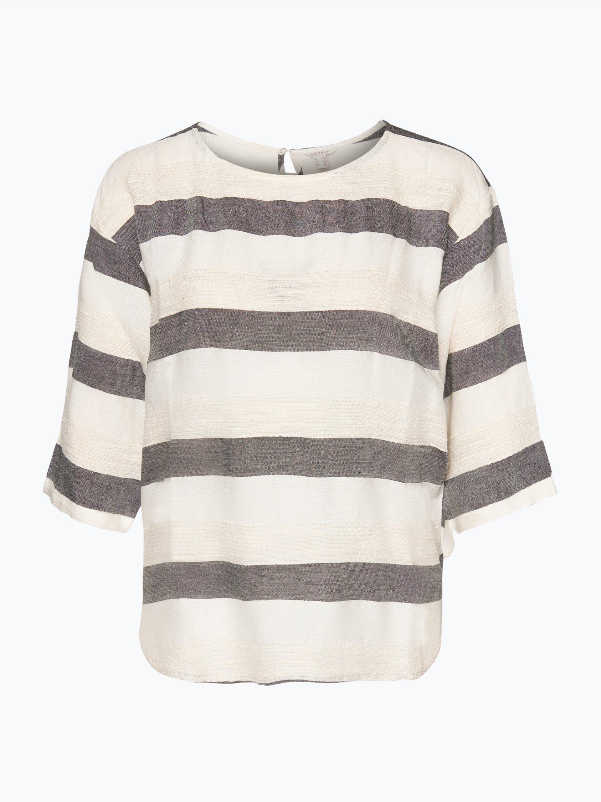 esprit casual damen bluse ecru gestreift online kaufen peek und cloppenburg de. Black Bedroom Furniture Sets. Home Design Ideas