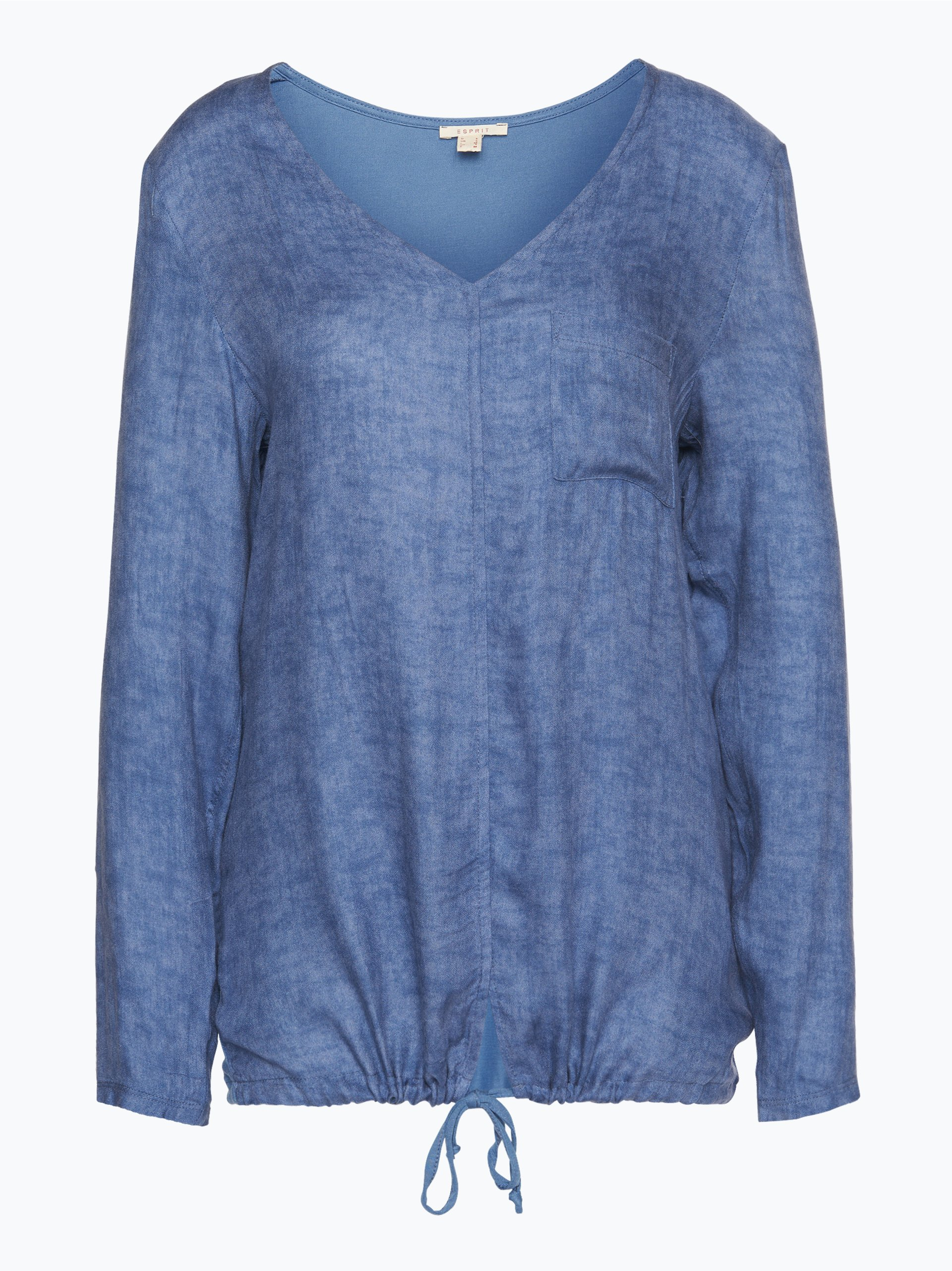 esprit casual damen blusenshirt indigo uni online kaufen. Black Bedroom Furniture Sets. Home Design Ideas