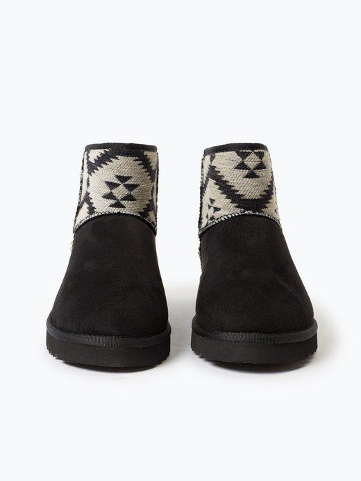 Esprit Casual Damen Boots in Veloursleder Optik online
