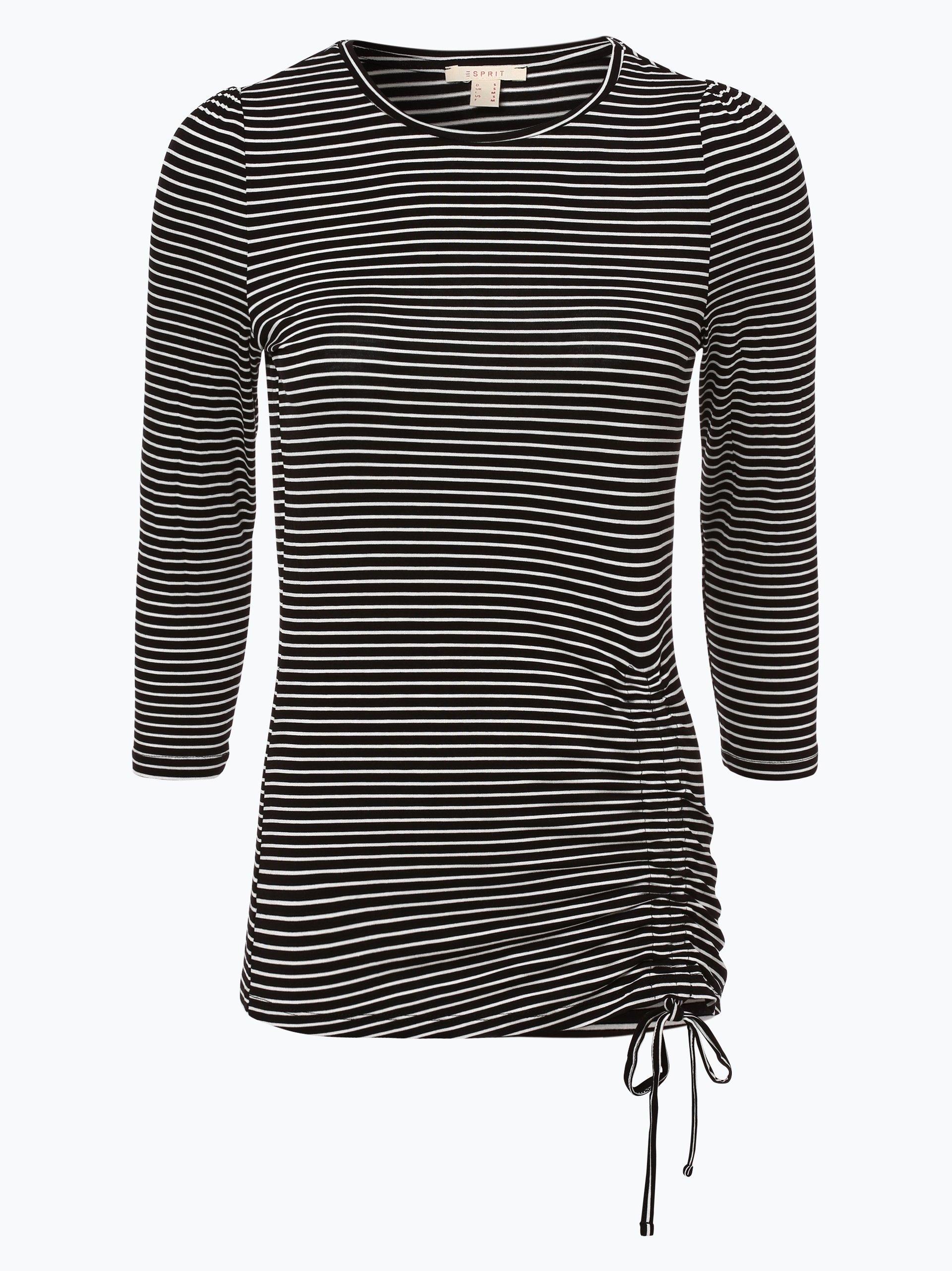 esprit casual damen langarmshirt schwarz gestreift online kaufen peek und cloppenburg de. Black Bedroom Furniture Sets. Home Design Ideas