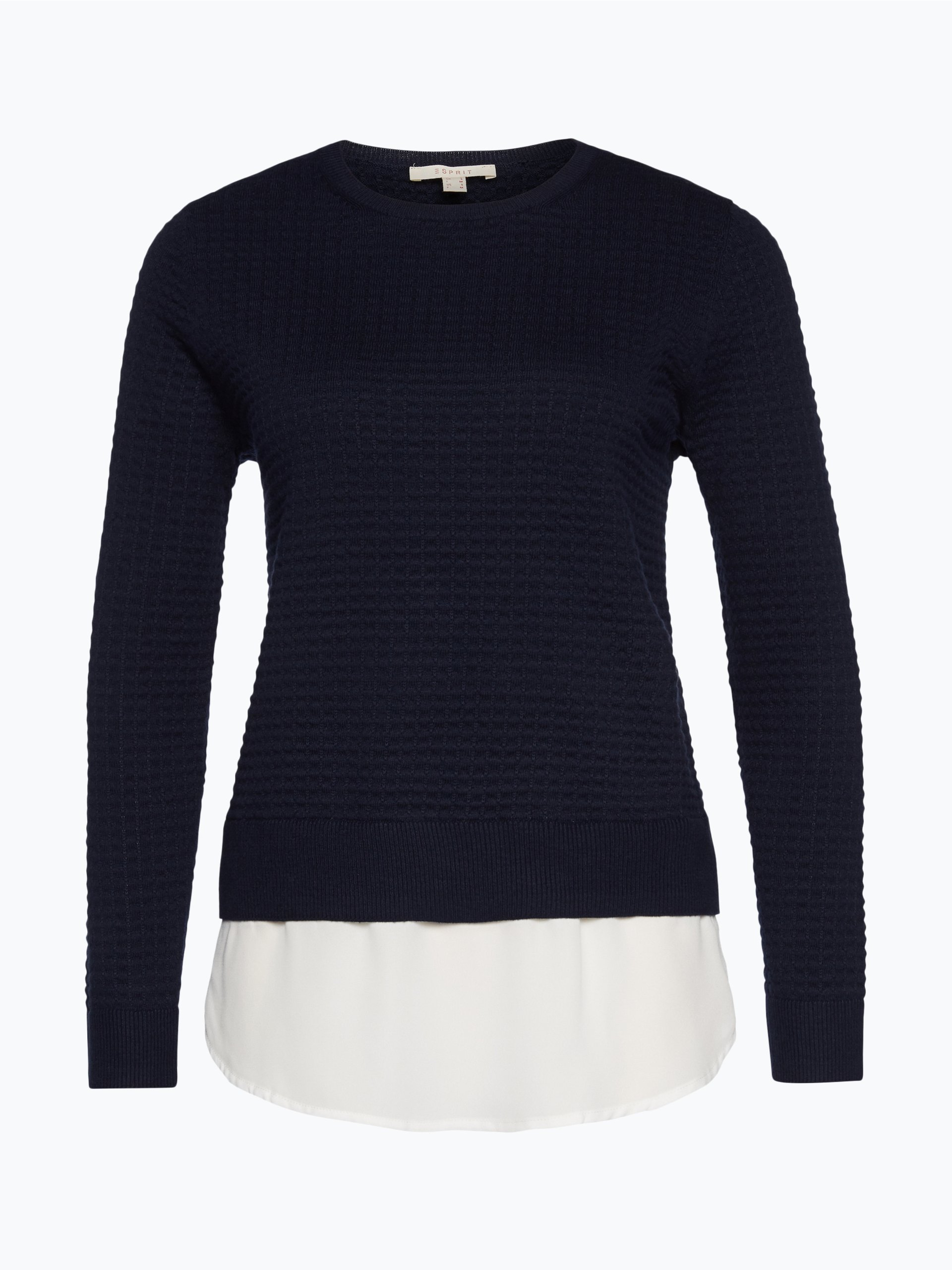 esprit casual damen pullover marine uni online kaufen. Black Bedroom Furniture Sets. Home Design Ideas