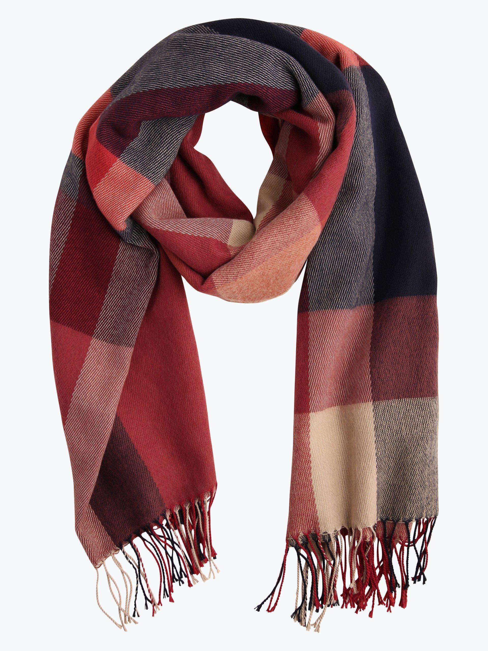 Esprit casual damen schal bordeaux kariert online kaufen for Schal binden damen