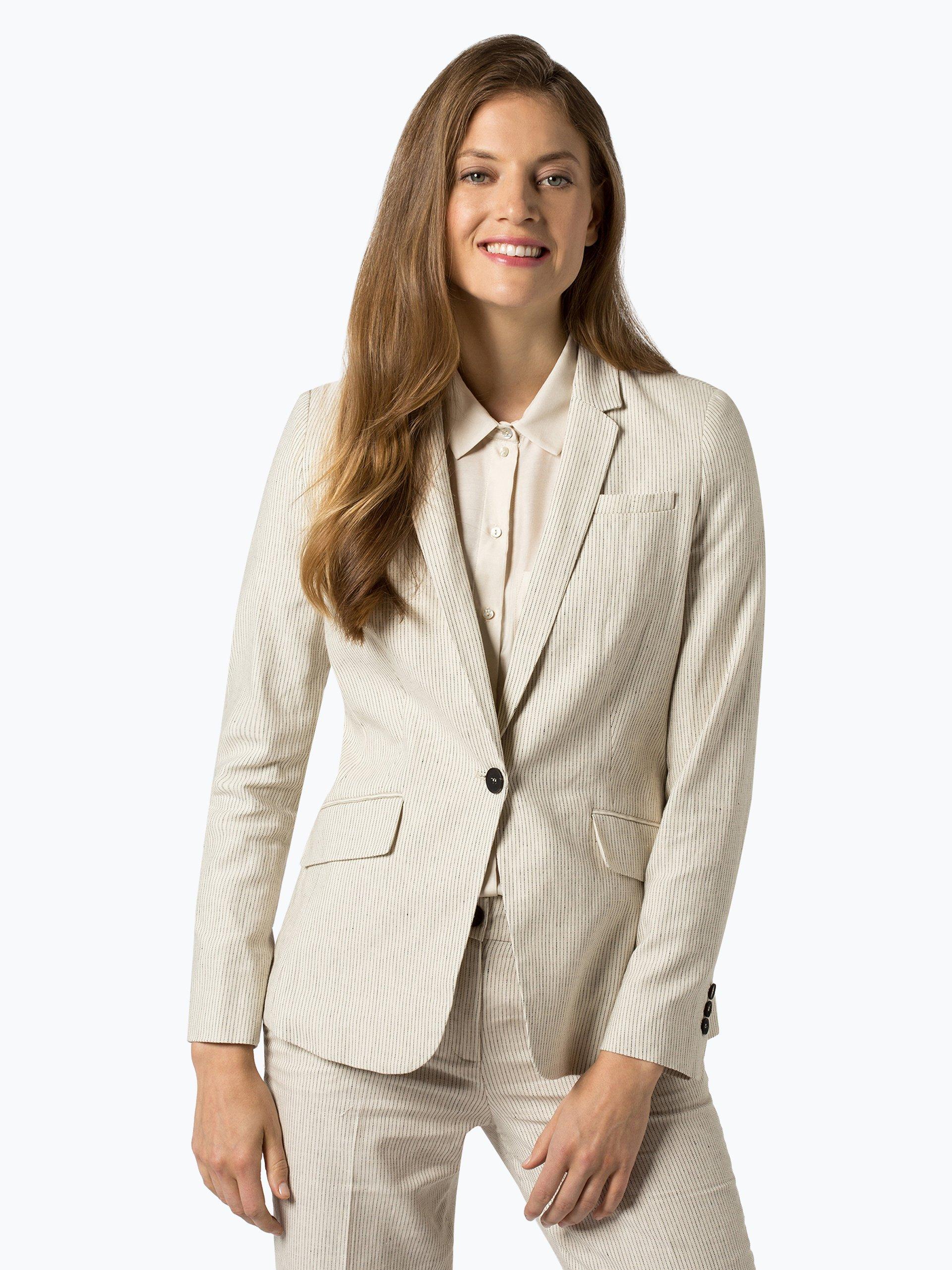 Esprit Collection Damen Blazer mit Leinen-Anteil
