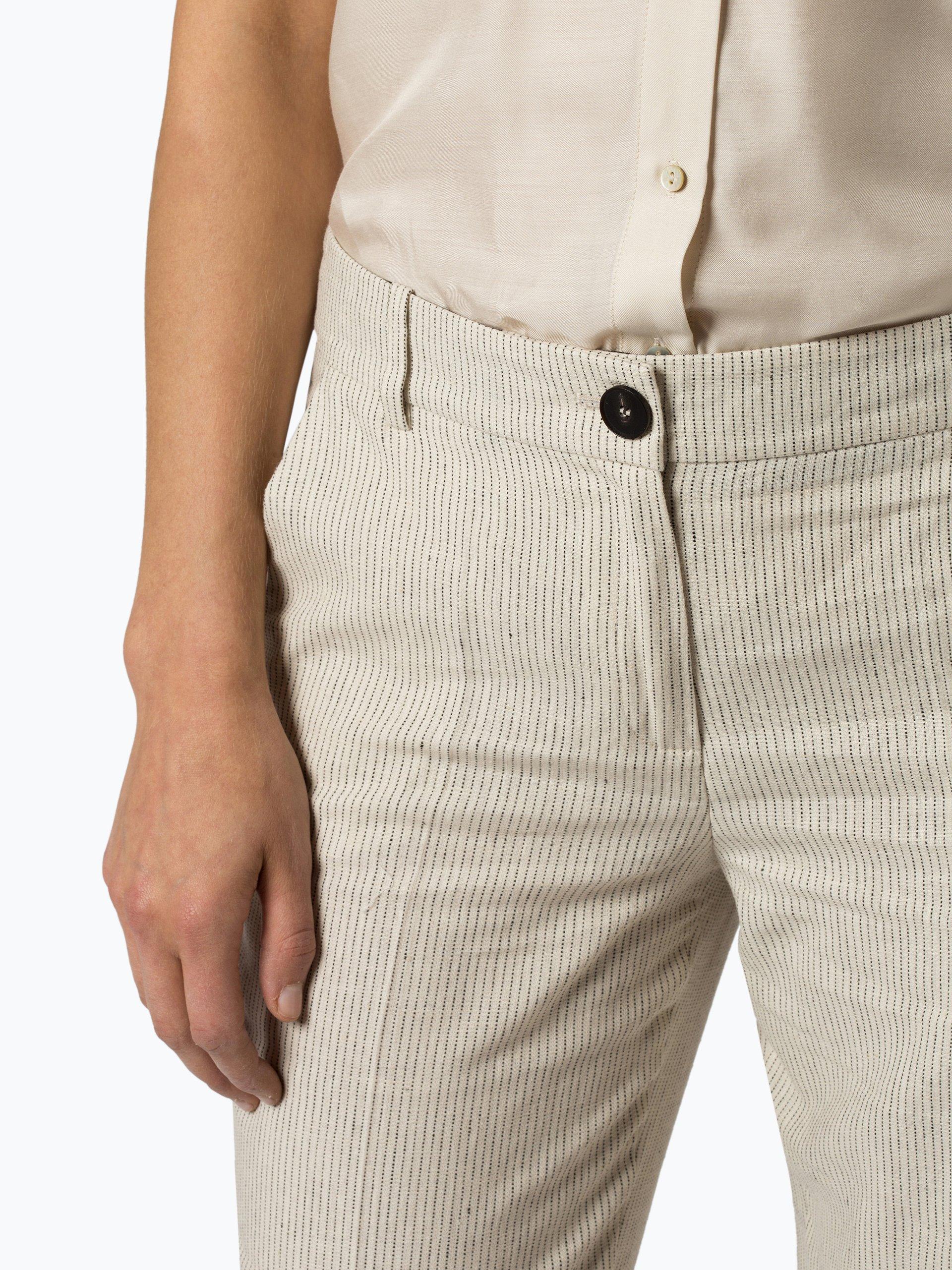 Esprit Collection Damen Hose mit Leinen-Anteil