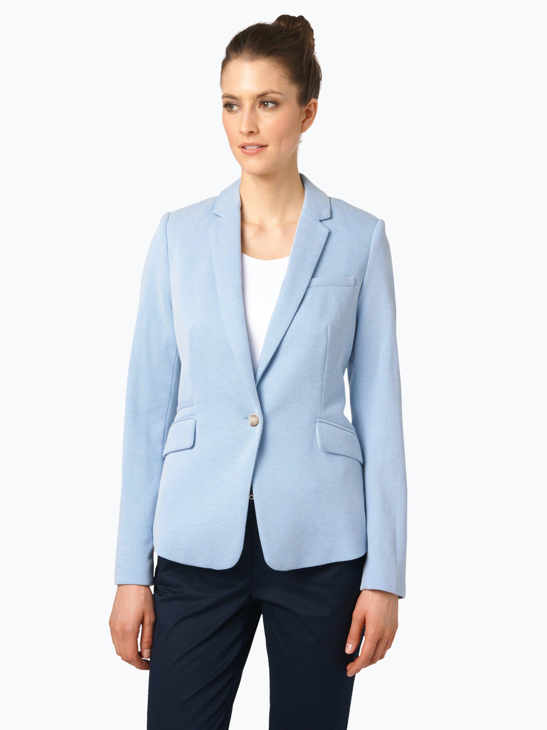 esprit collection damen jersey blazer hellblau blau uni online kaufen peek und cloppenburg de. Black Bedroom Furniture Sets. Home Design Ideas