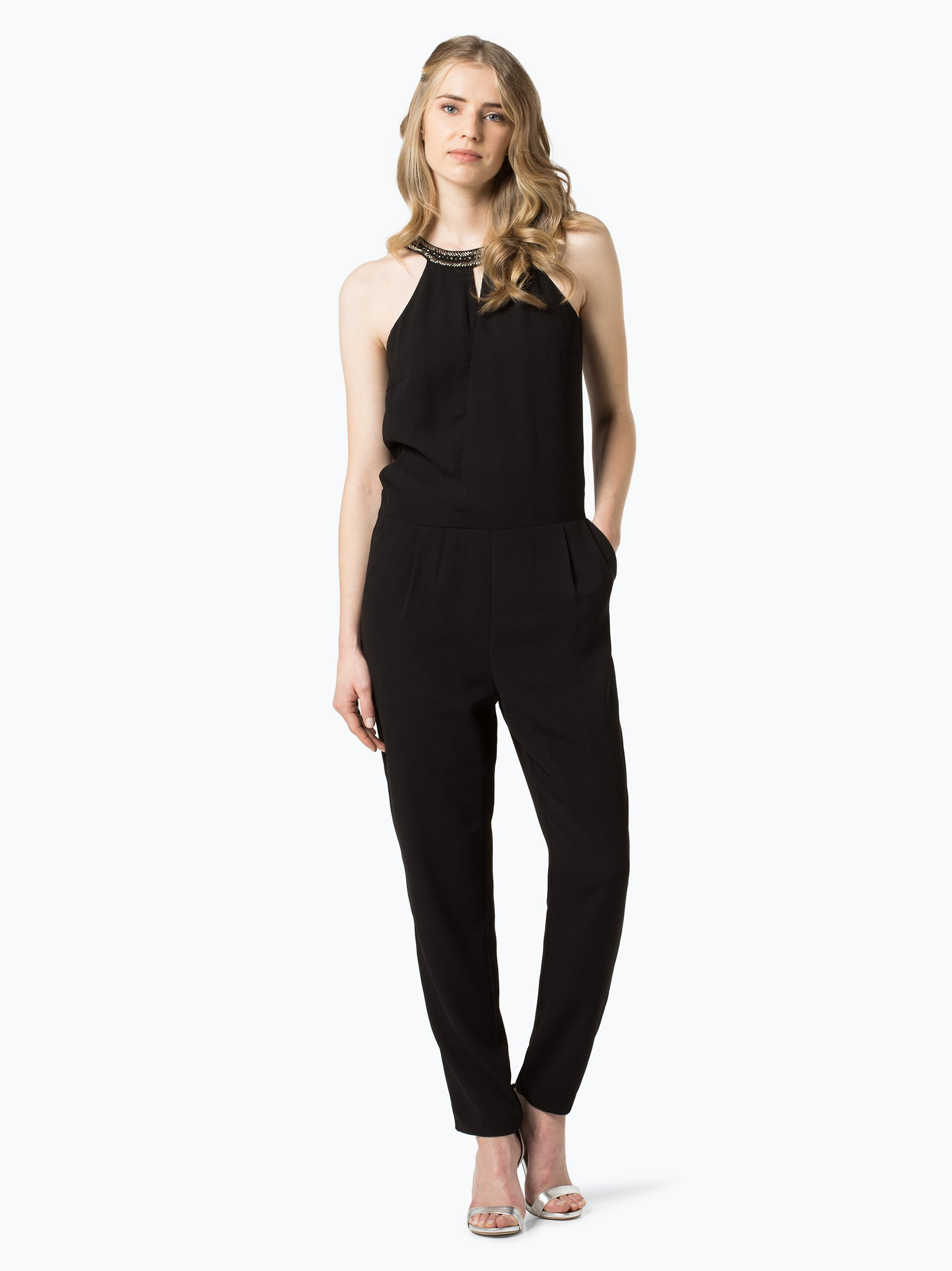 esprit collection damen jumpsuit schwarz uni online kaufen vangraaf com. Black Bedroom Furniture Sets. Home Design Ideas