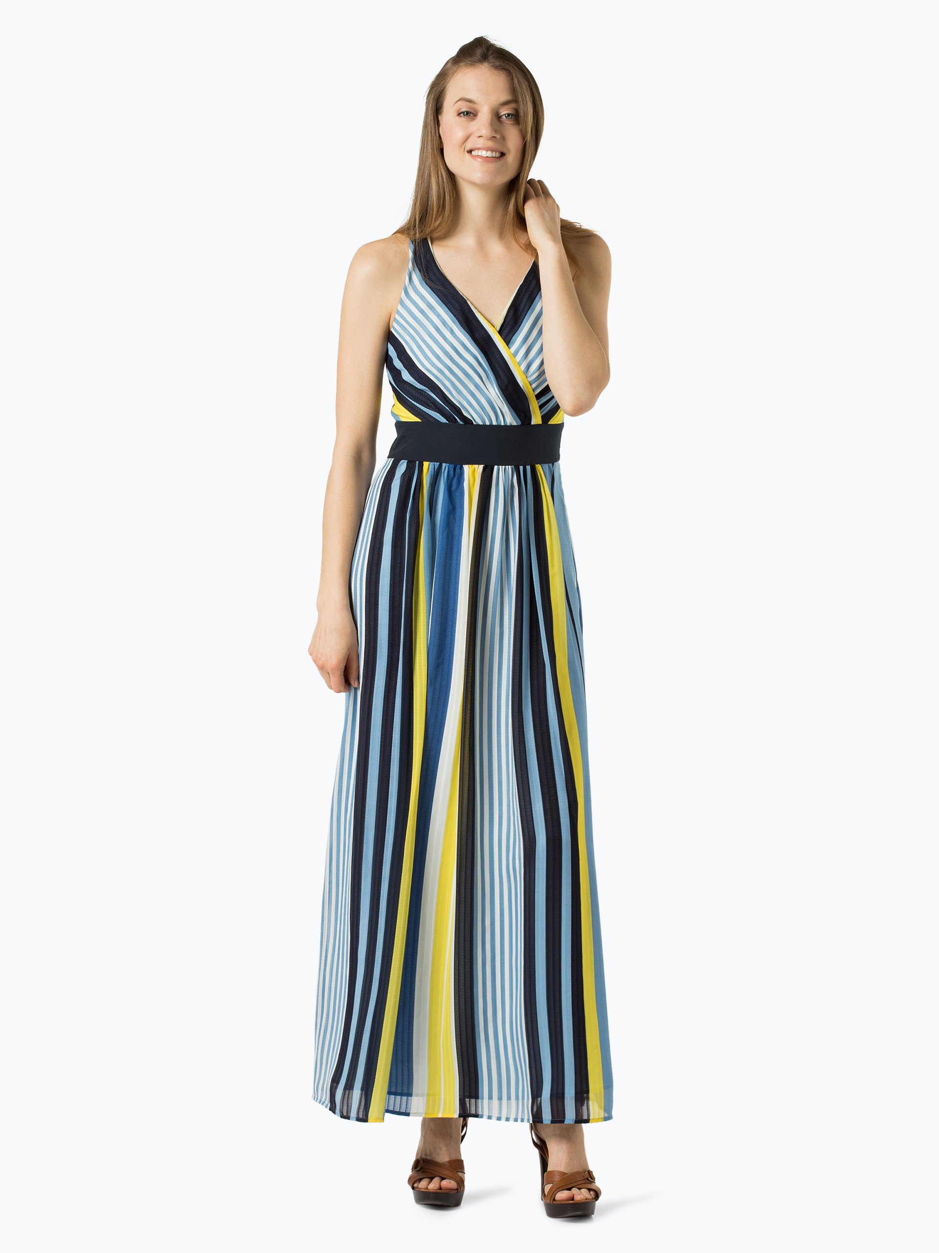esprit collection damen kleid blau gelb gestreift online kaufen vangraaf com. Black Bedroom Furniture Sets. Home Design Ideas