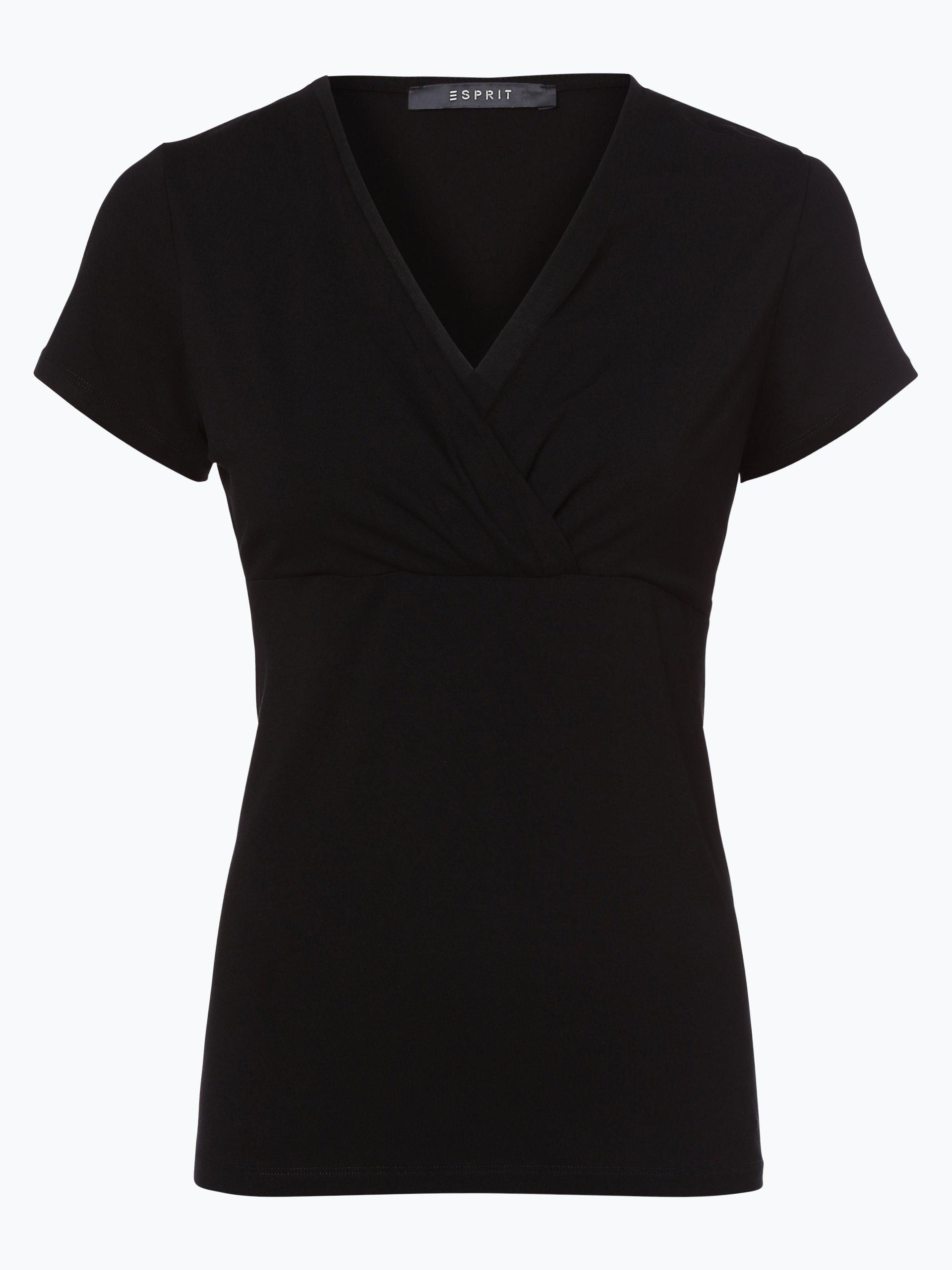 esprit collection damen t shirt schwarz uni online kaufen vangraaf com. Black Bedroom Furniture Sets. Home Design Ideas