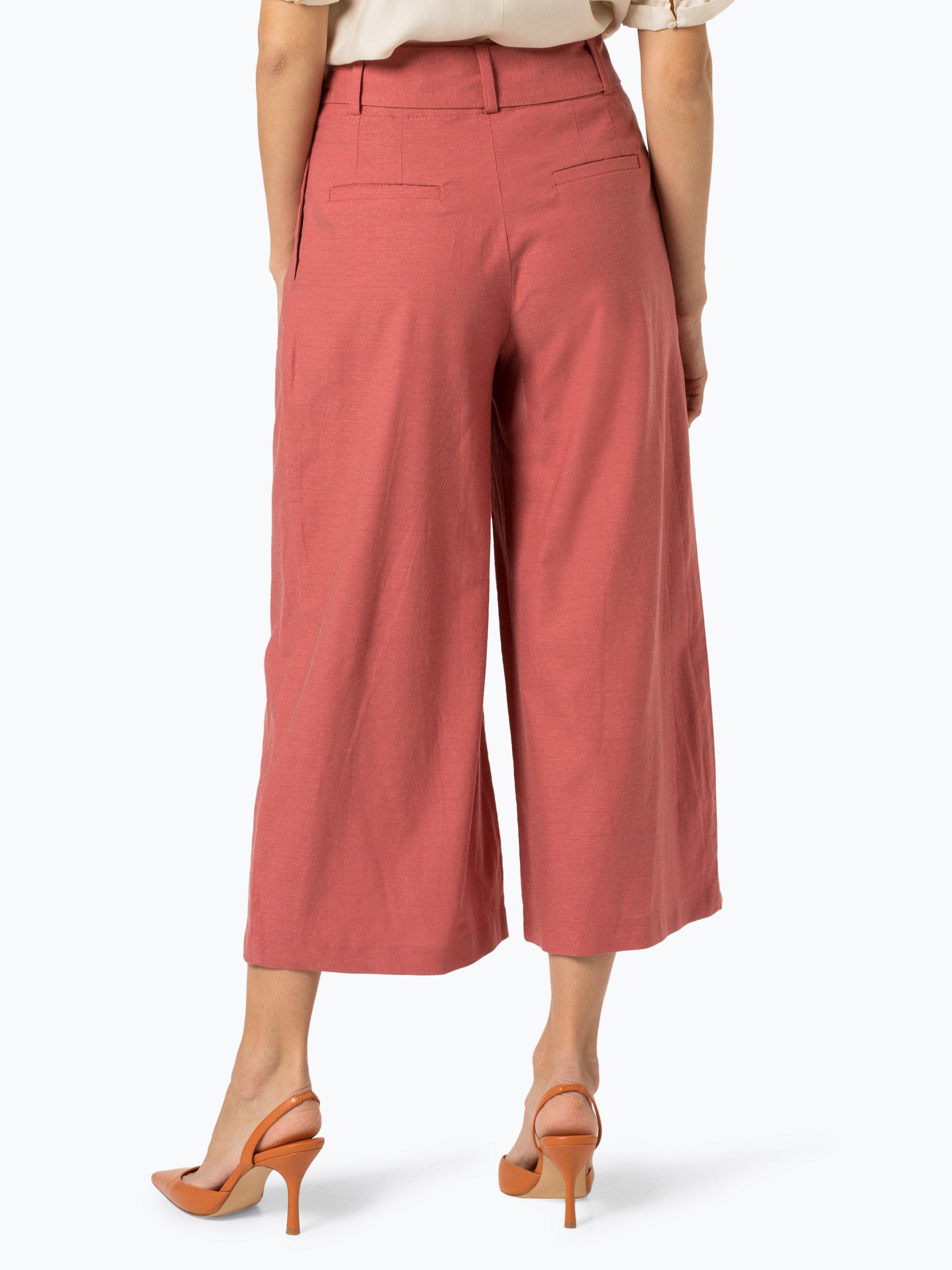 Esprit Collection Spodnie damskie z dodatkiem lnu