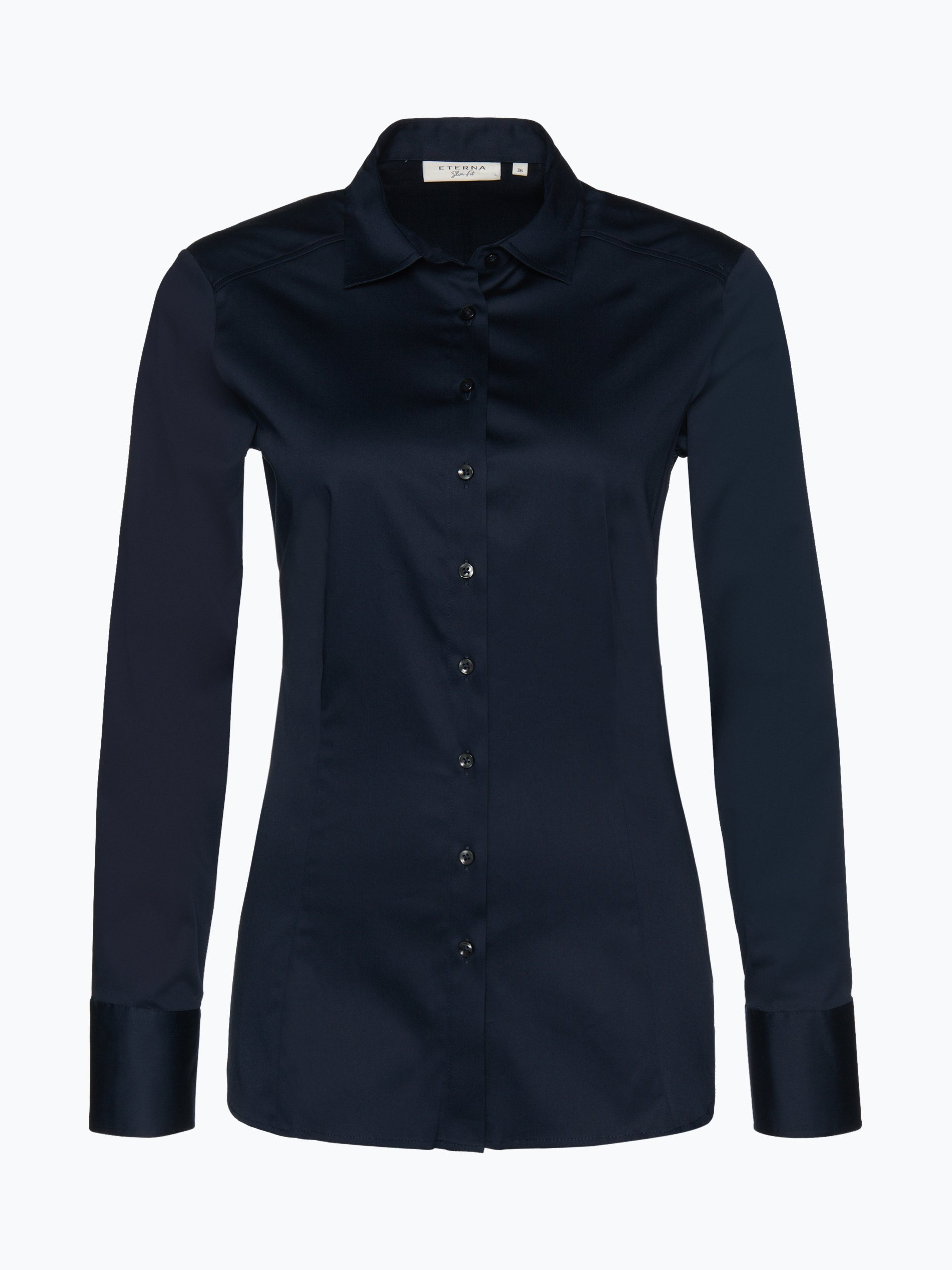 eterna slim fit damen bluse marine uni online kaufen. Black Bedroom Furniture Sets. Home Design Ideas