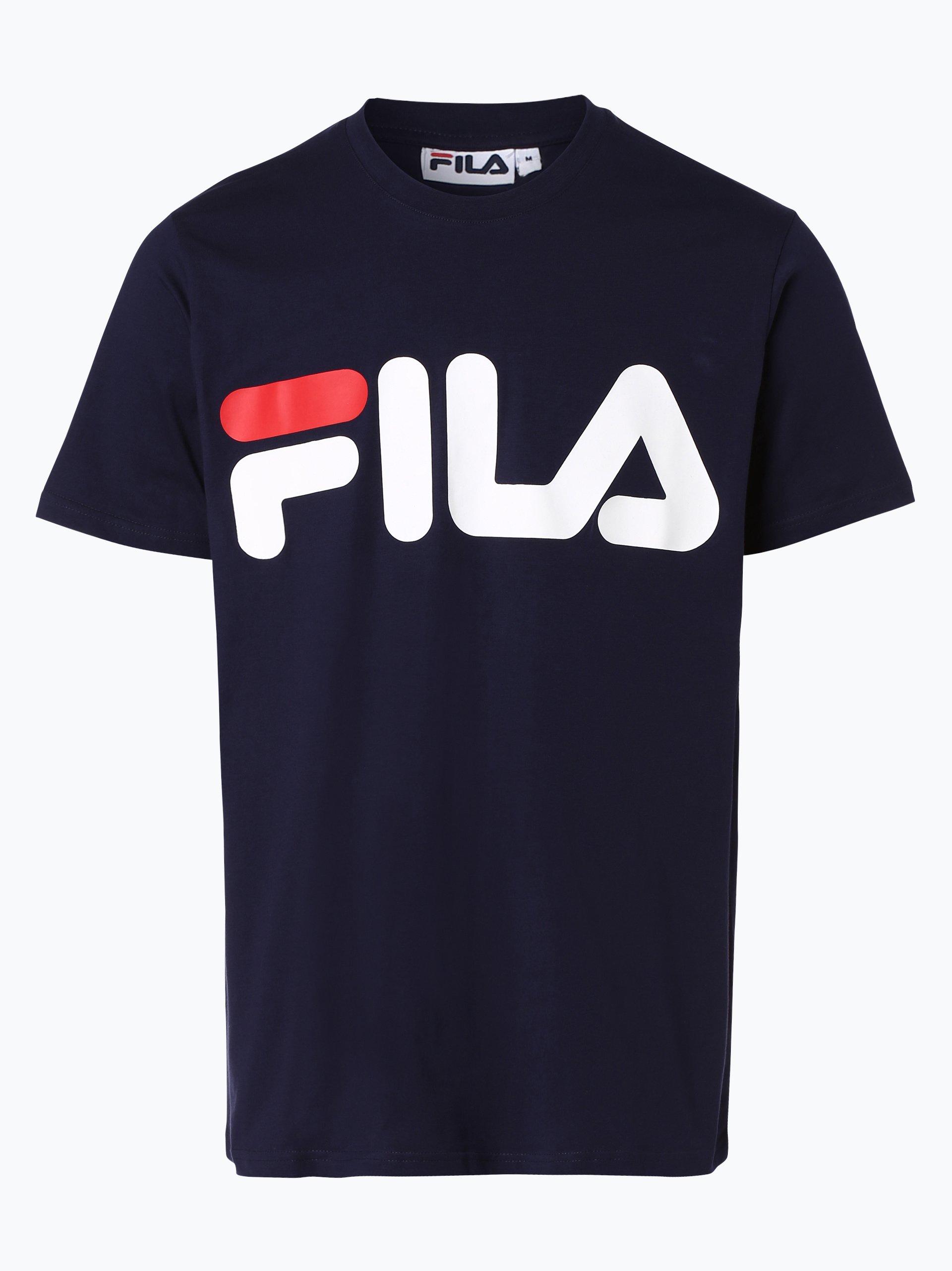 fila herren t shirt marine gemustert online kaufen peek
