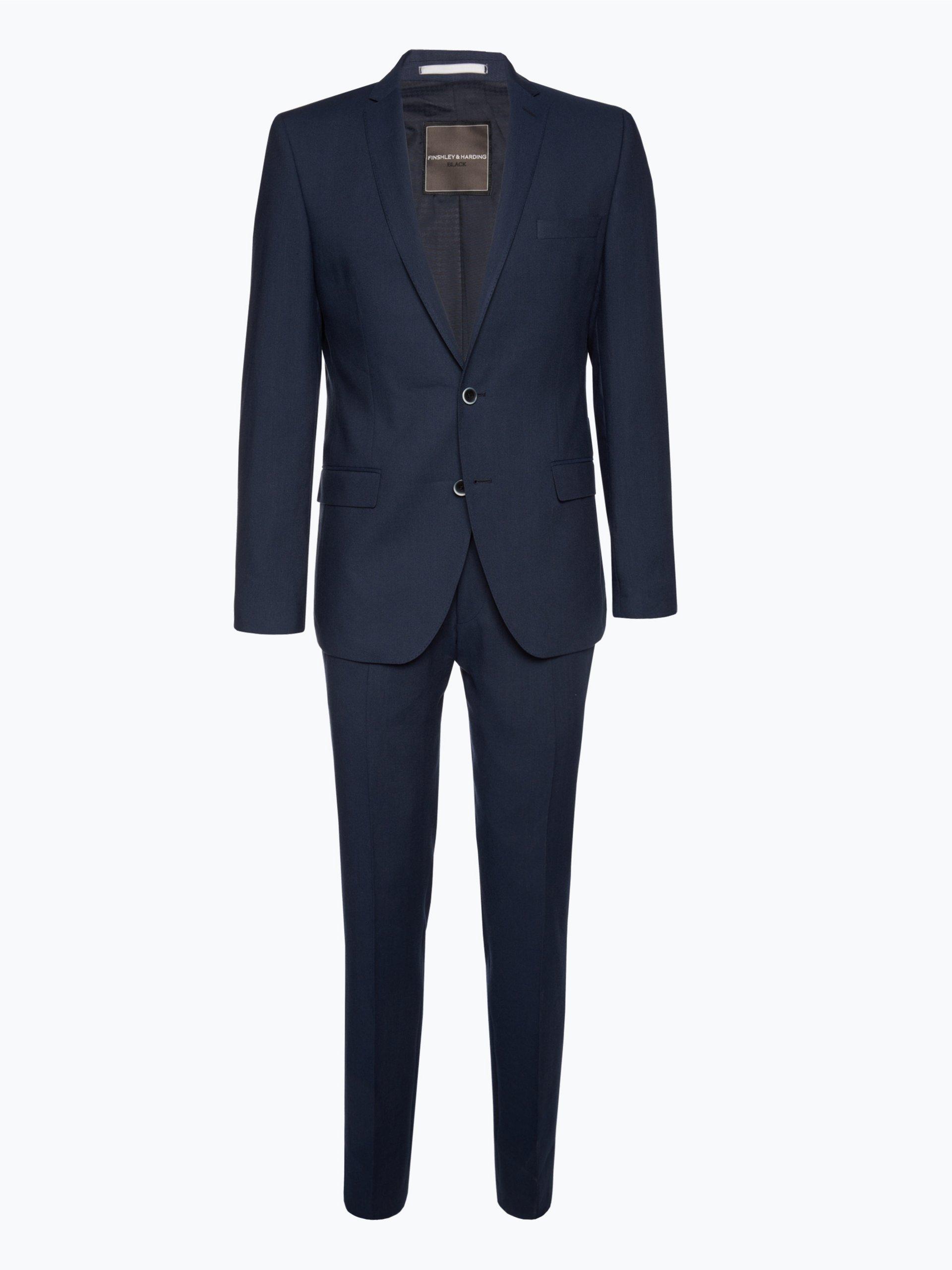 finshley harding herren anzug mit leinen anteil black label 2 online kaufen peek und. Black Bedroom Furniture Sets. Home Design Ideas