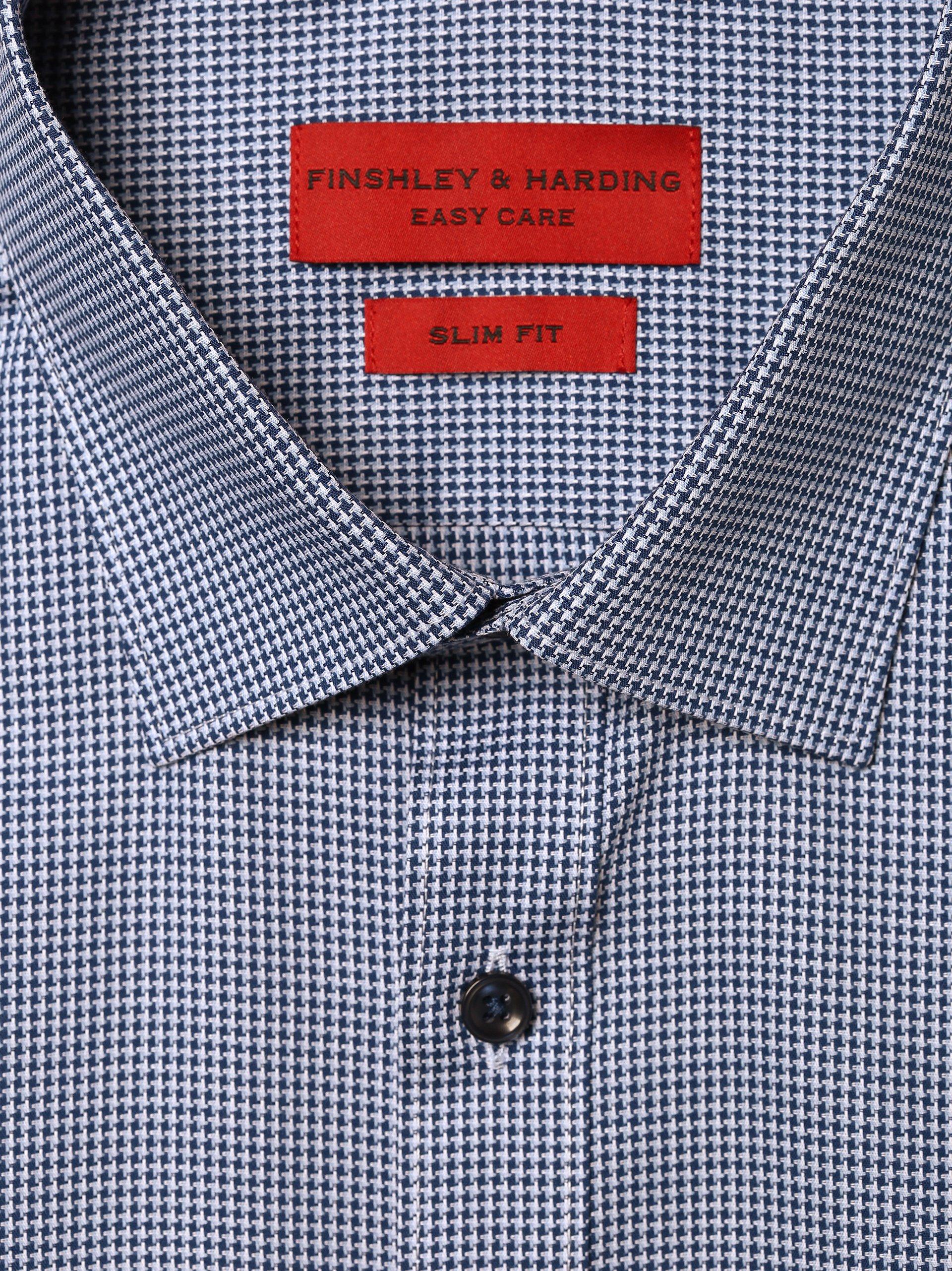 Finshley & Harding Herren Hemd - Bügelleicht - Extralange Ärmel