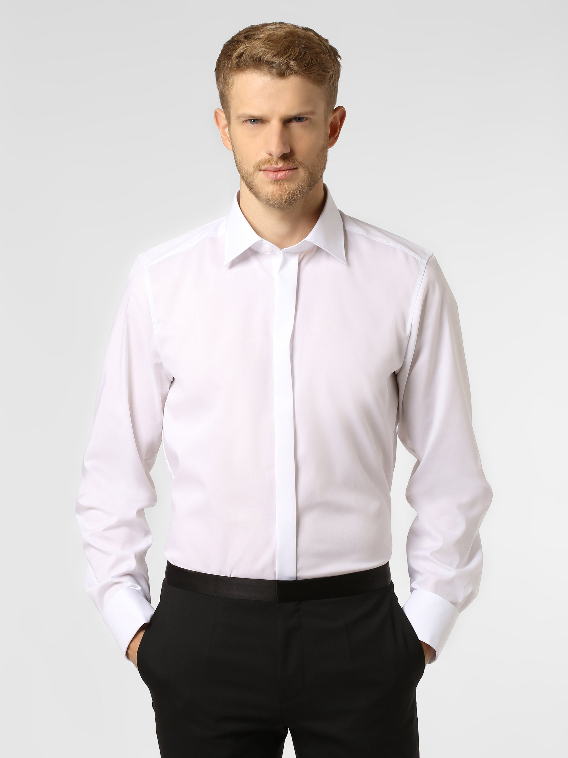 Finshley & Harding Herren Hemd mit Umschlagmanschetten