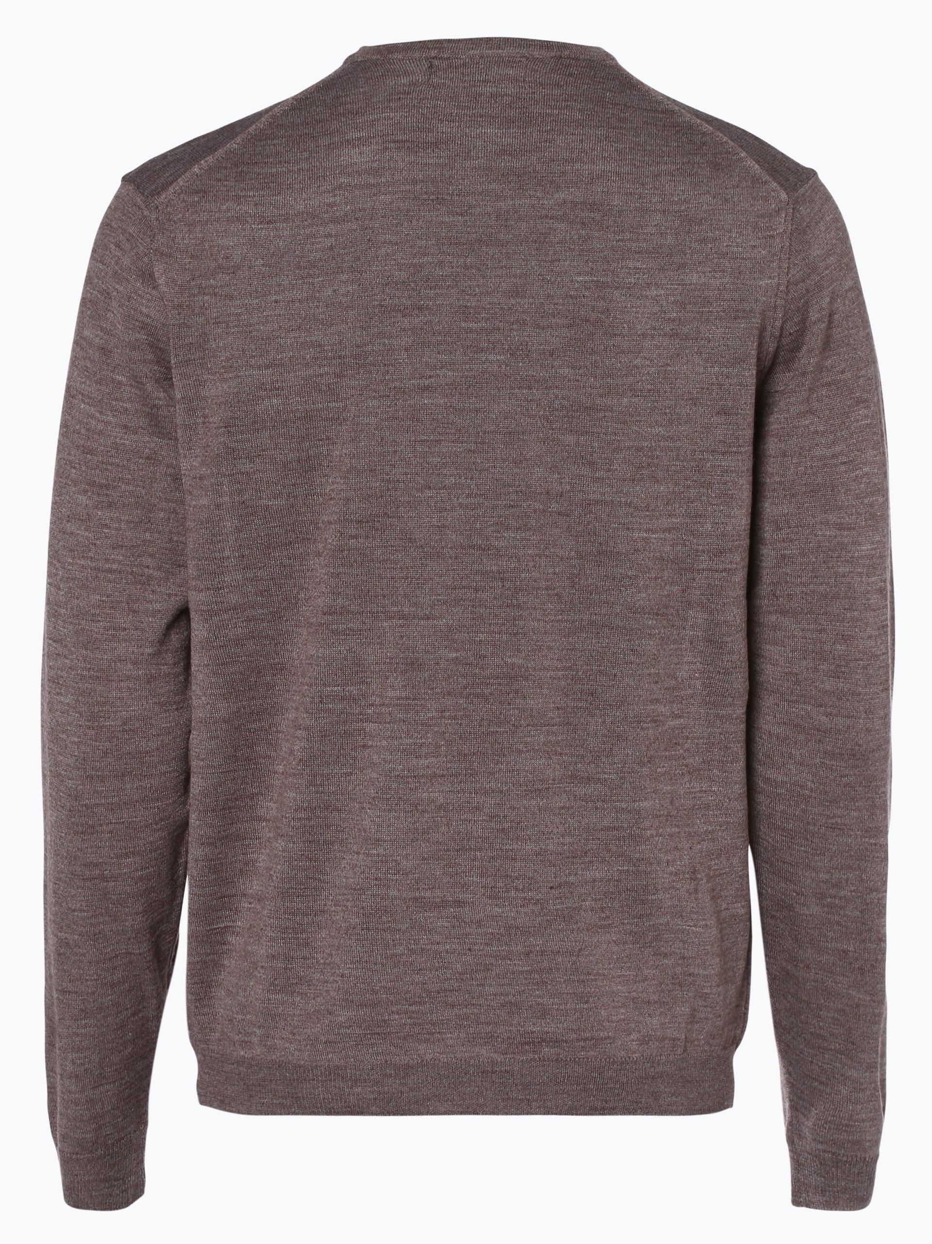 finshley harding herren pullover mit merino anteil taupe uni online kaufen peek und. Black Bedroom Furniture Sets. Home Design Ideas