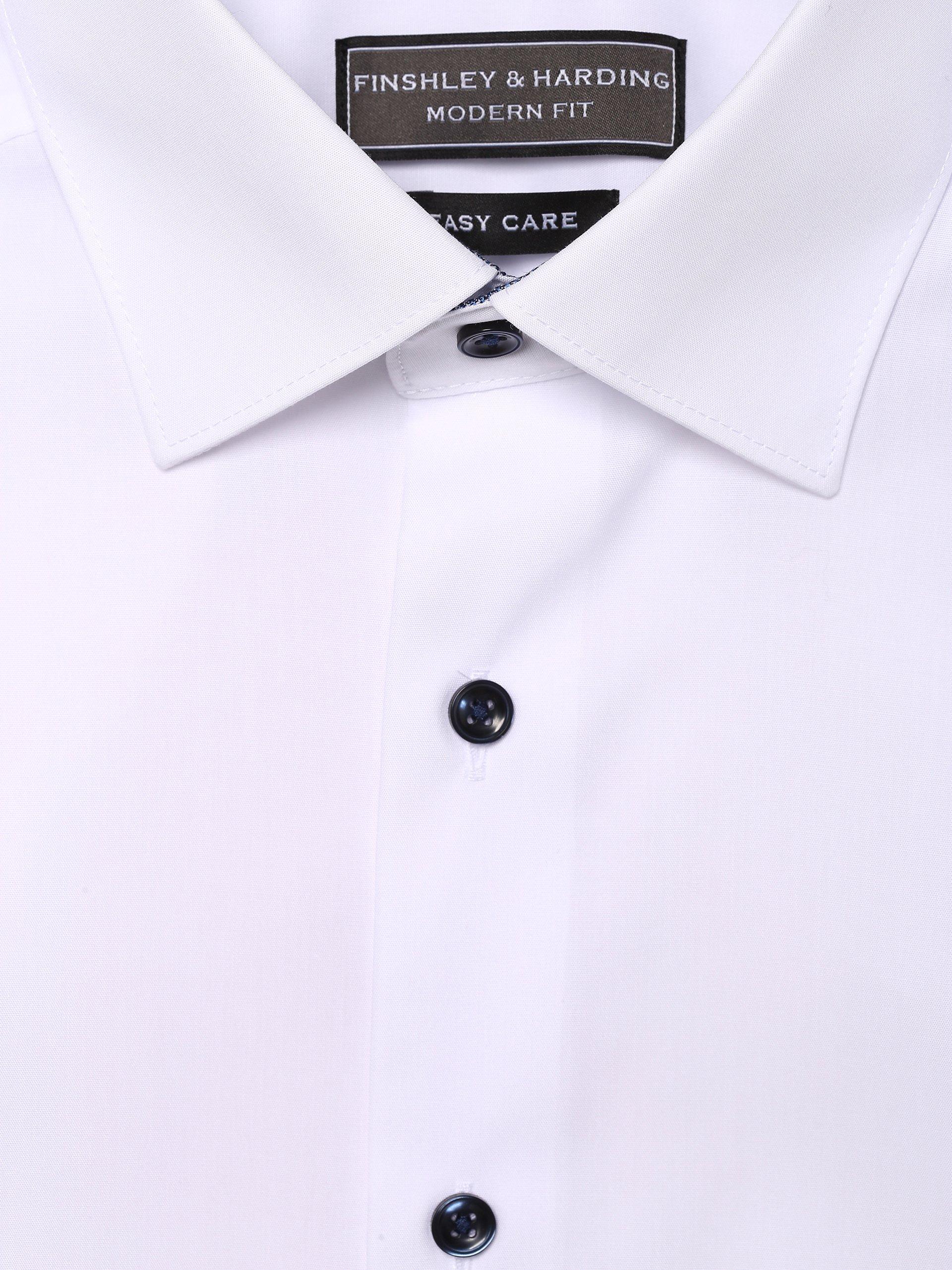 Finshley & Harding Koszula męska łatwa w prasowaniu – bardzo krótkie rękawy