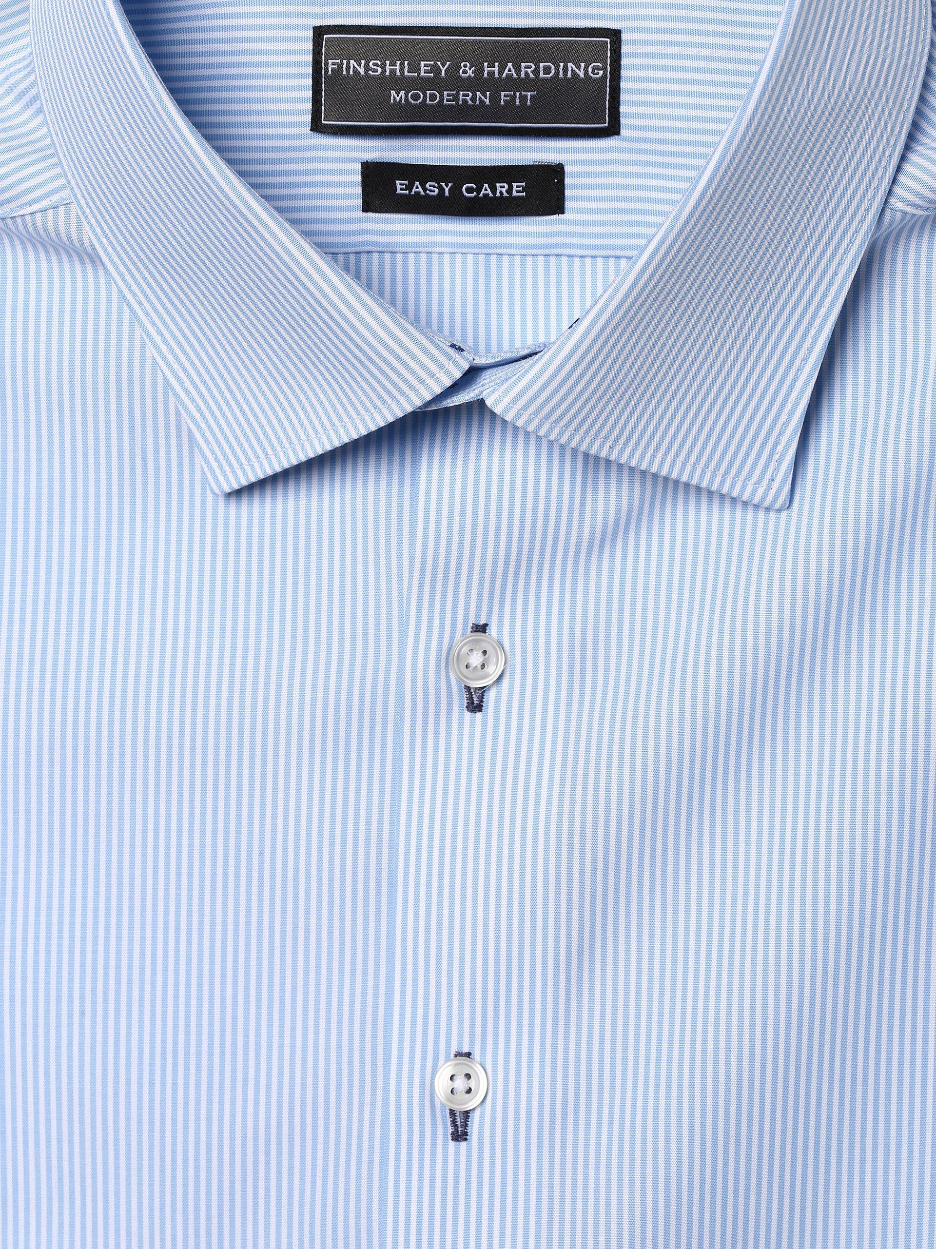 Finshley & Harding Koszula męska łatwa w prasowaniu z bardzo długim rękawem