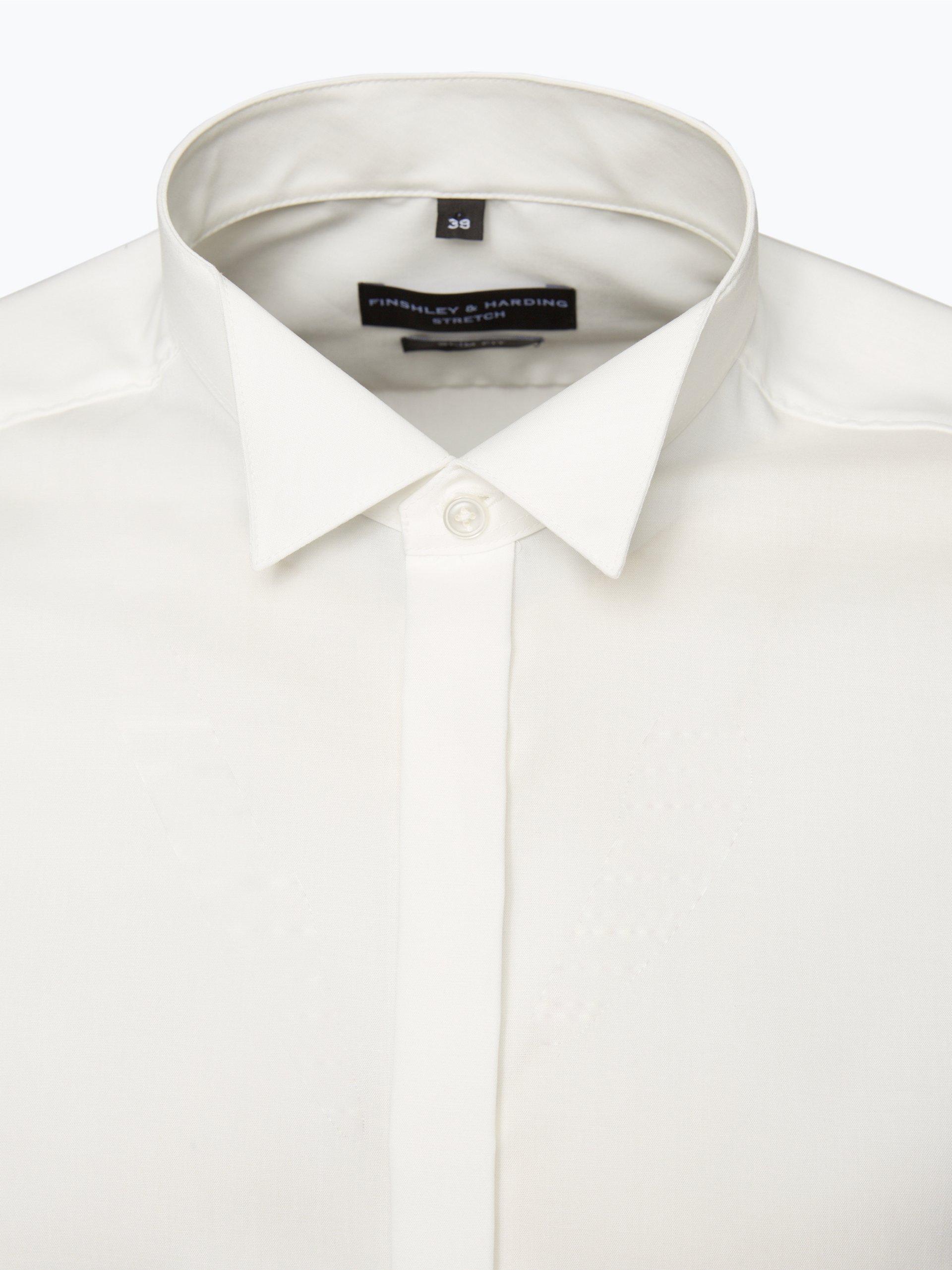 Finshley & Harding Koszula męska z ekstradługimi rękawami i wywijanymi mankietami