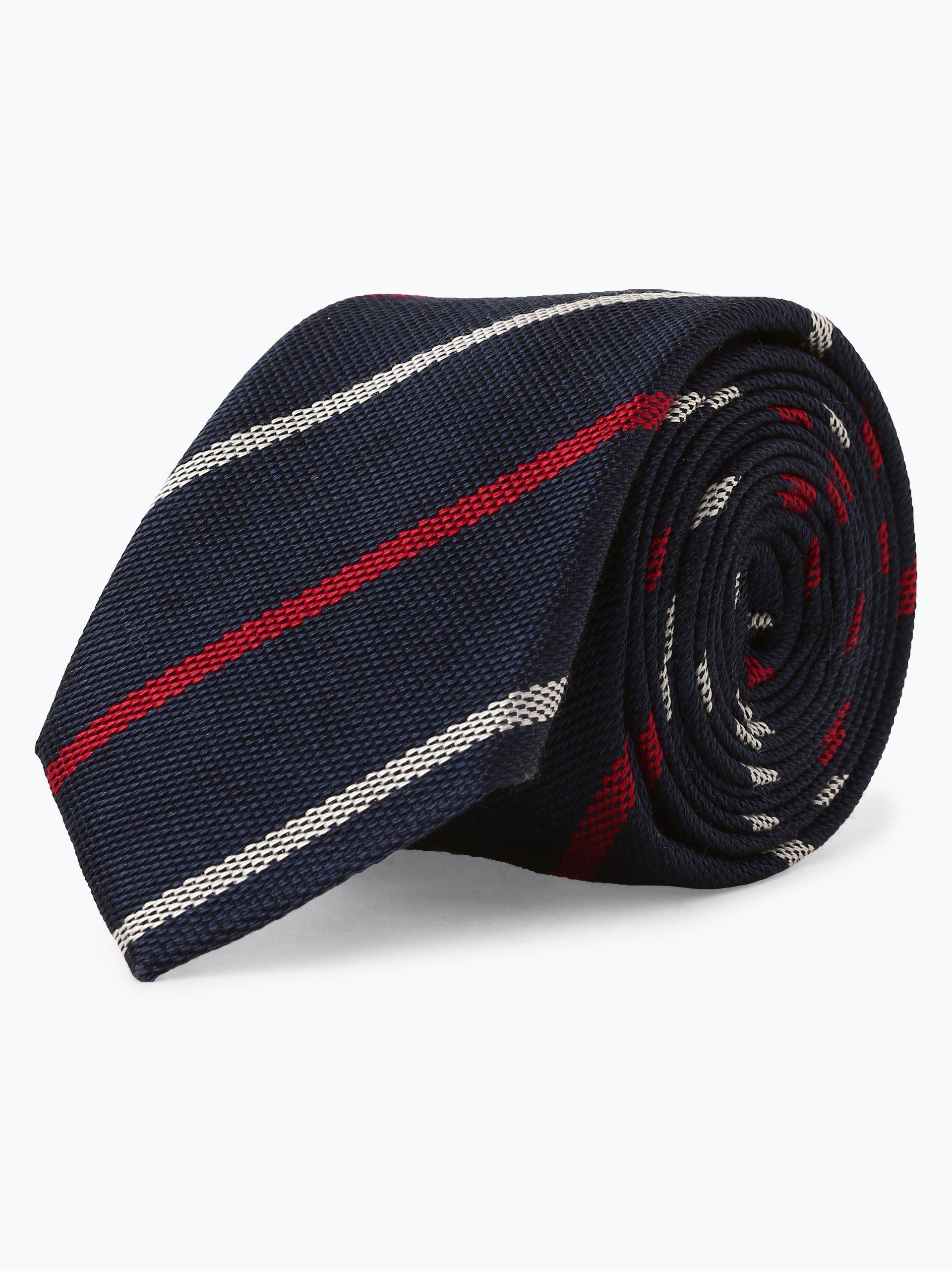 Finshley & Harding London Herren Krawatte mit Seiden-Anteil und Krawattenklammer