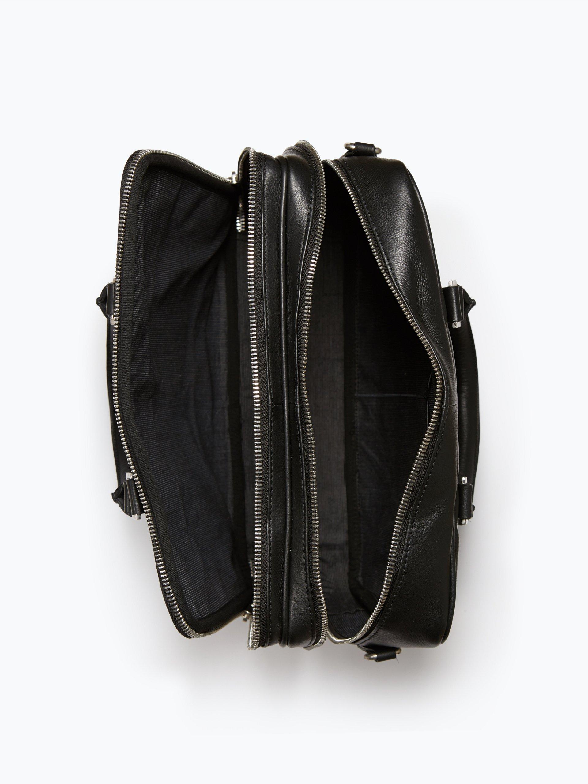 finshley harding london herren laptop tasche aus leder schwarz uni online kaufen vangraaf com. Black Bedroom Furniture Sets. Home Design Ideas