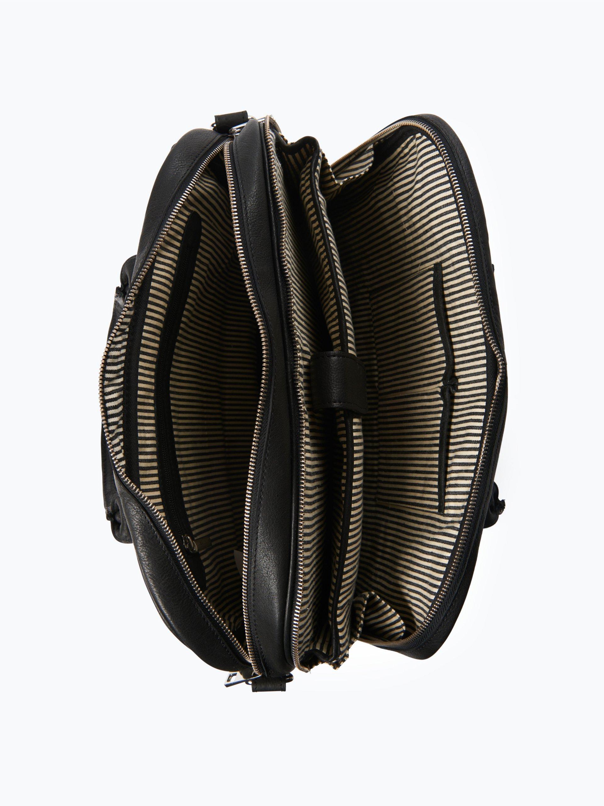 finshley harding london herren laptop tasche aus leder schwarz uni online kaufen peek und. Black Bedroom Furniture Sets. Home Design Ideas