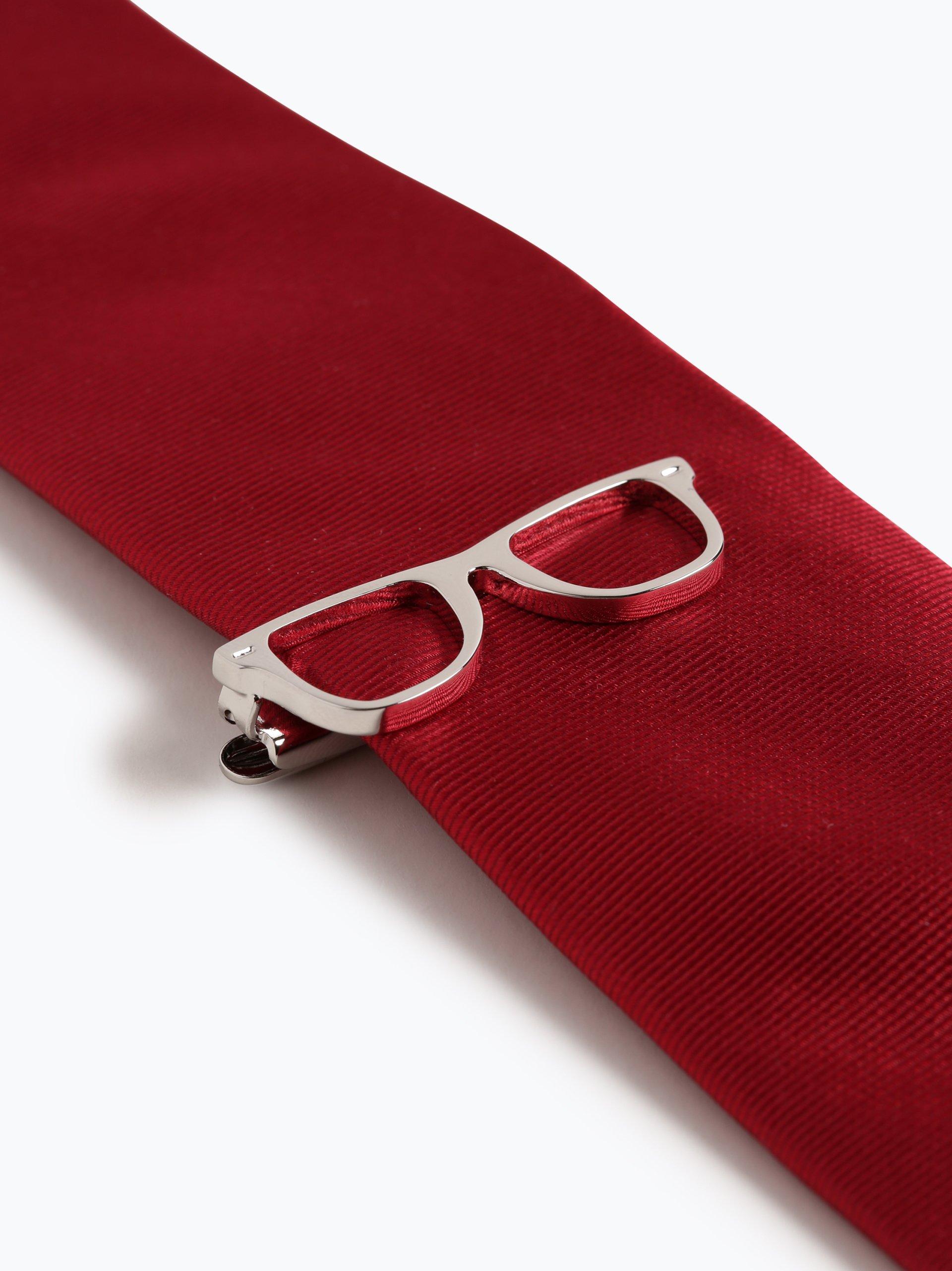 Finshley & Harding London Krawat jedwabny męski ze spinką