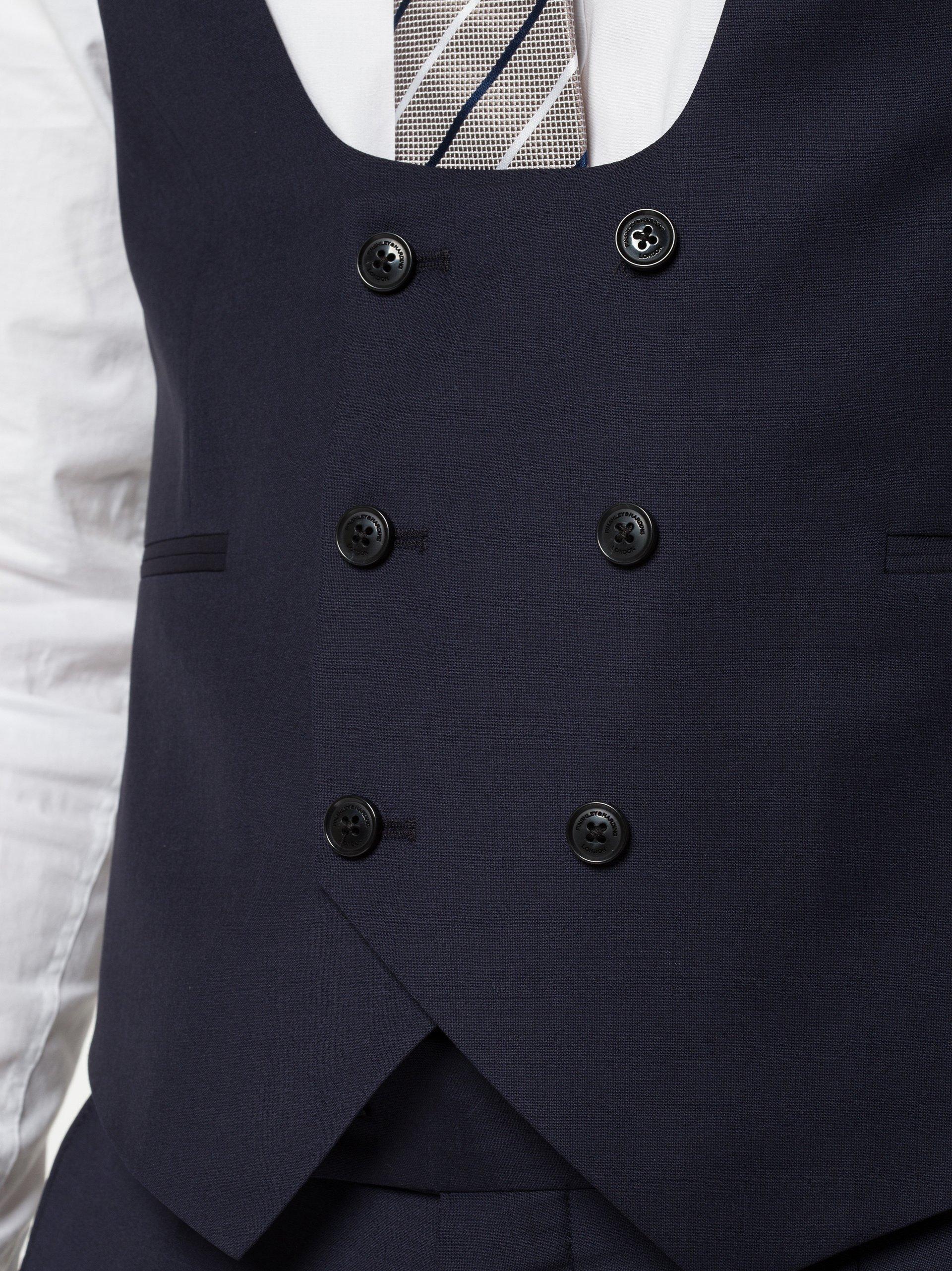 Finshley & Harding London Męska kamizelka od garnituru modułowego - Howard