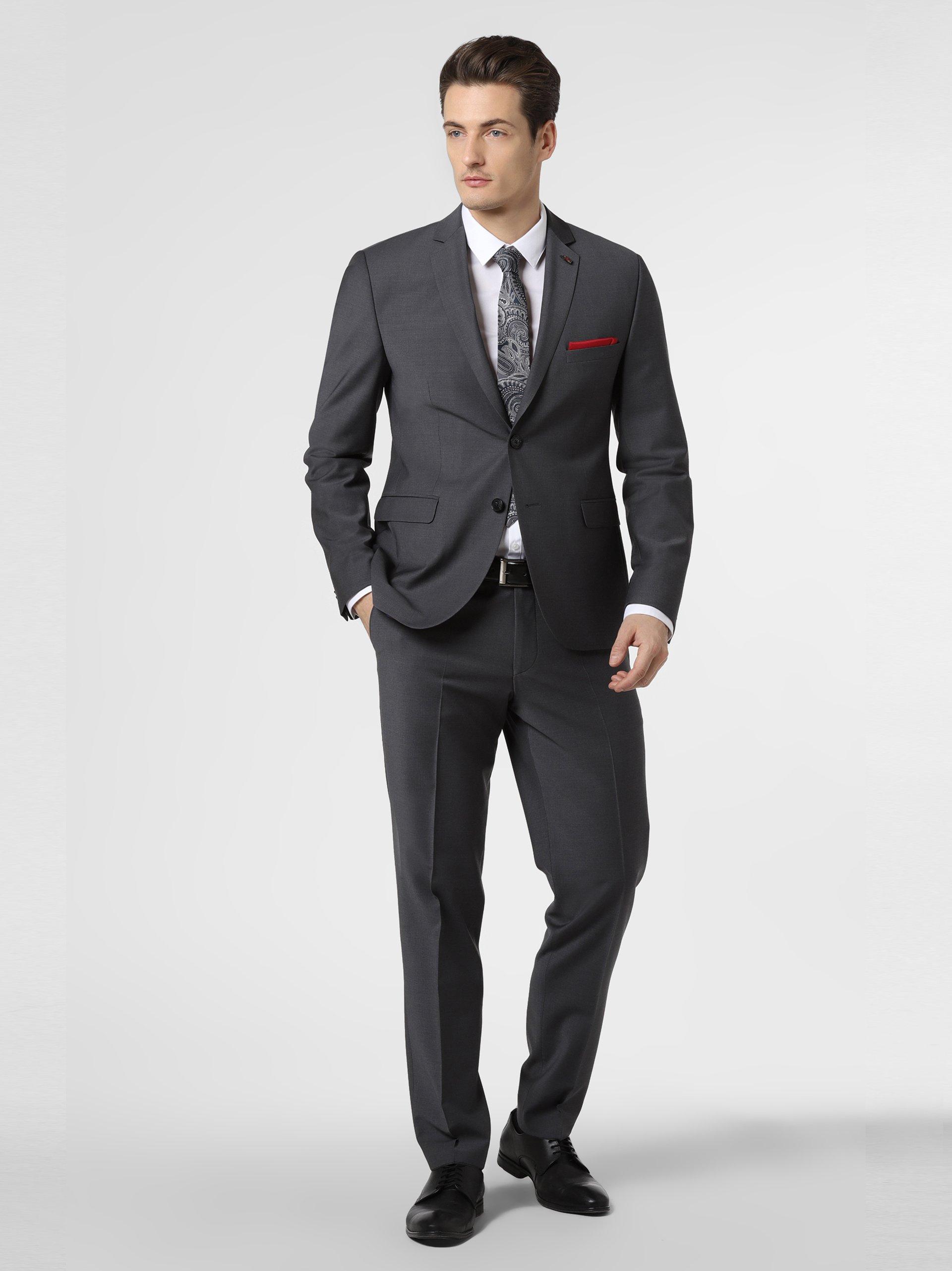 Finshley & Harding London Męskie spodnie od garnituru modułowego – Grant Athletic