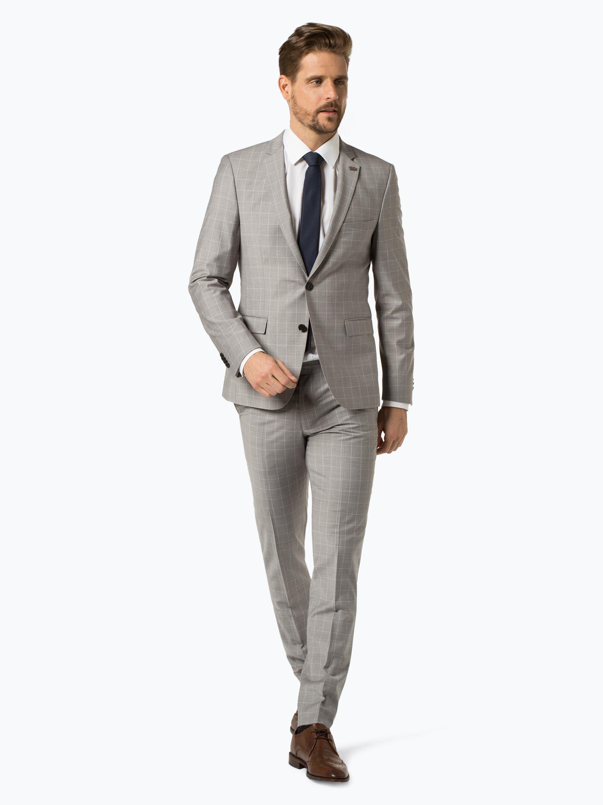 Finshley & Harding London Męskie spodnie od garnituru modułowego – Grant IB
