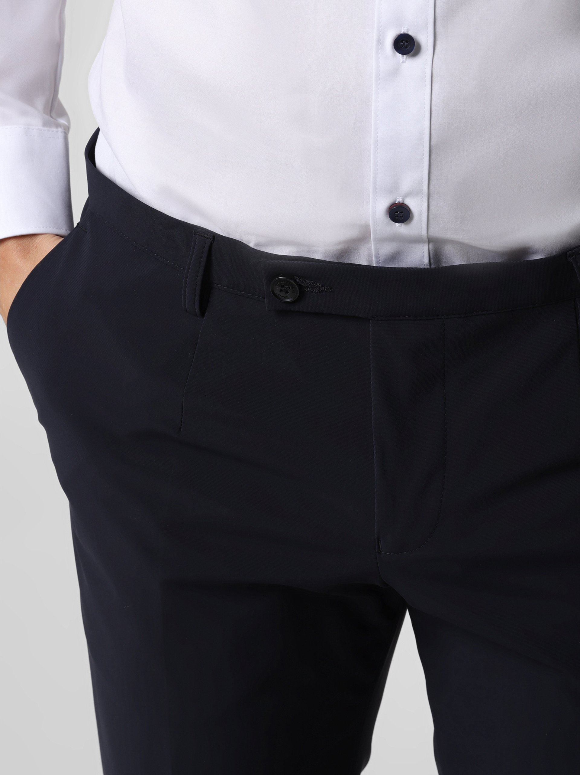 Finshley & Harding London Męskie spodnie od garnituru modułowego – Hudson-B