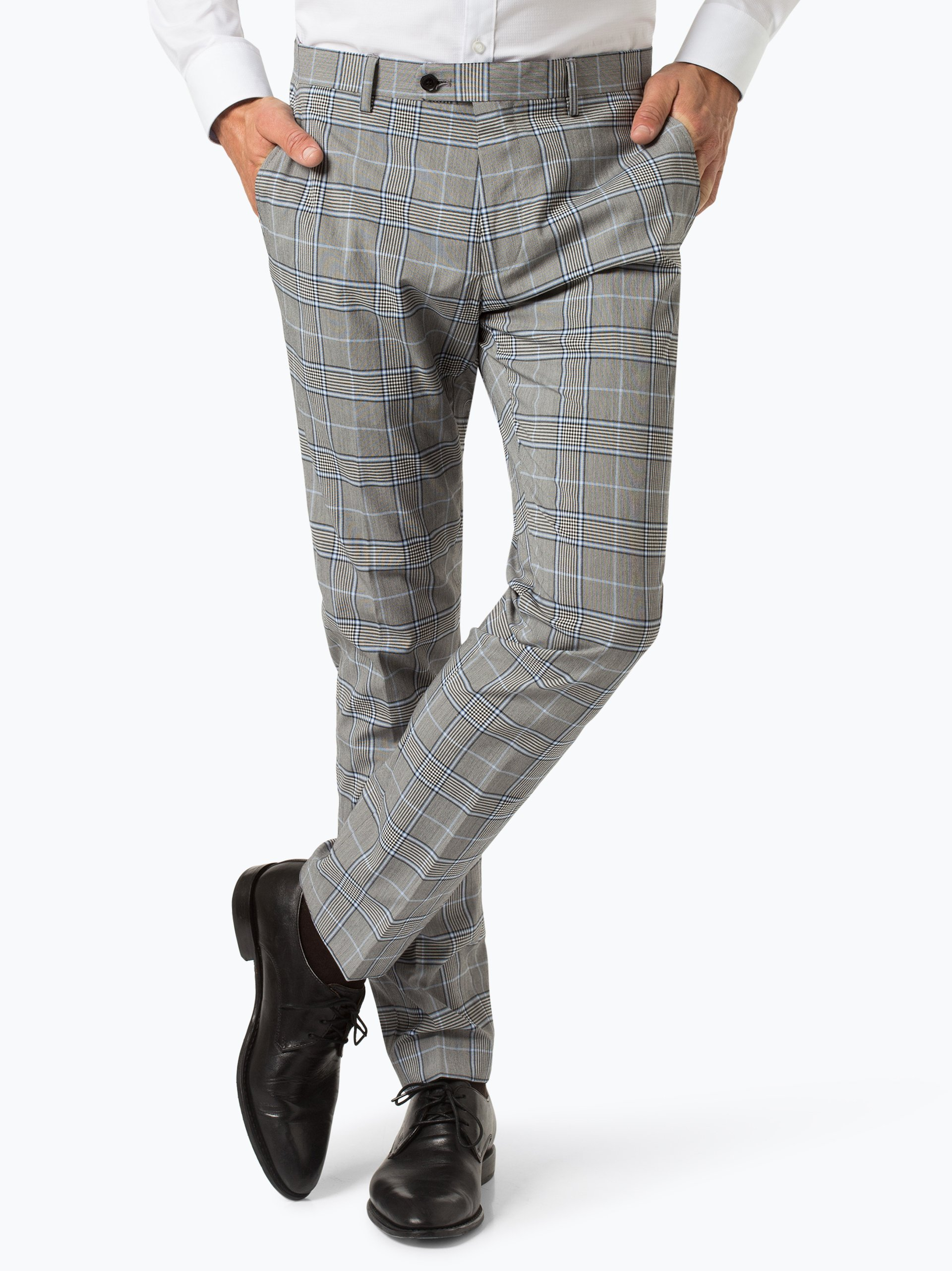 Finshley & Harding London Męskie spodnie od garnituru modułowego