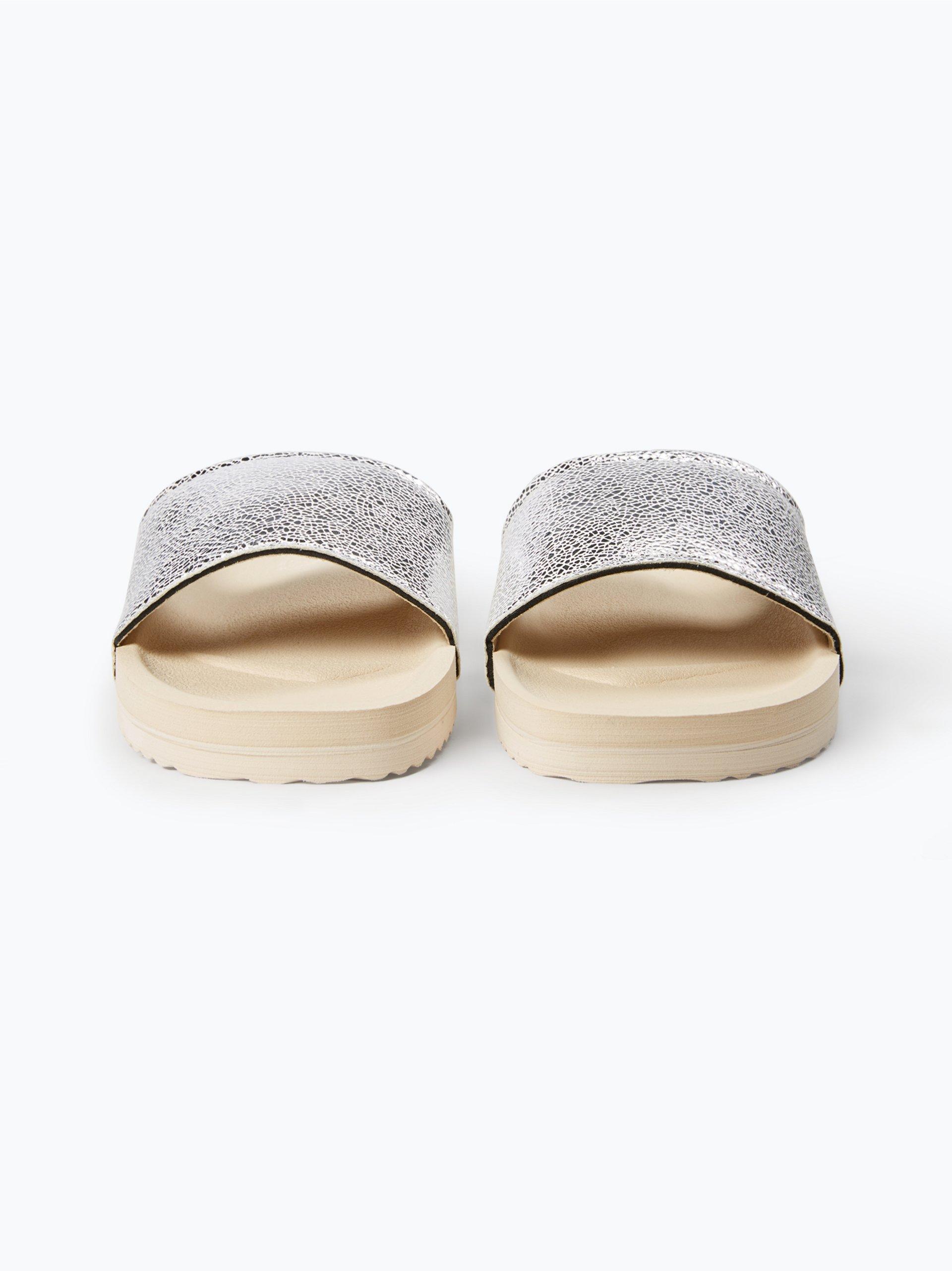 flip flop damen pantoletten silber uni online kaufen peek und cloppenburg de. Black Bedroom Furniture Sets. Home Design Ideas