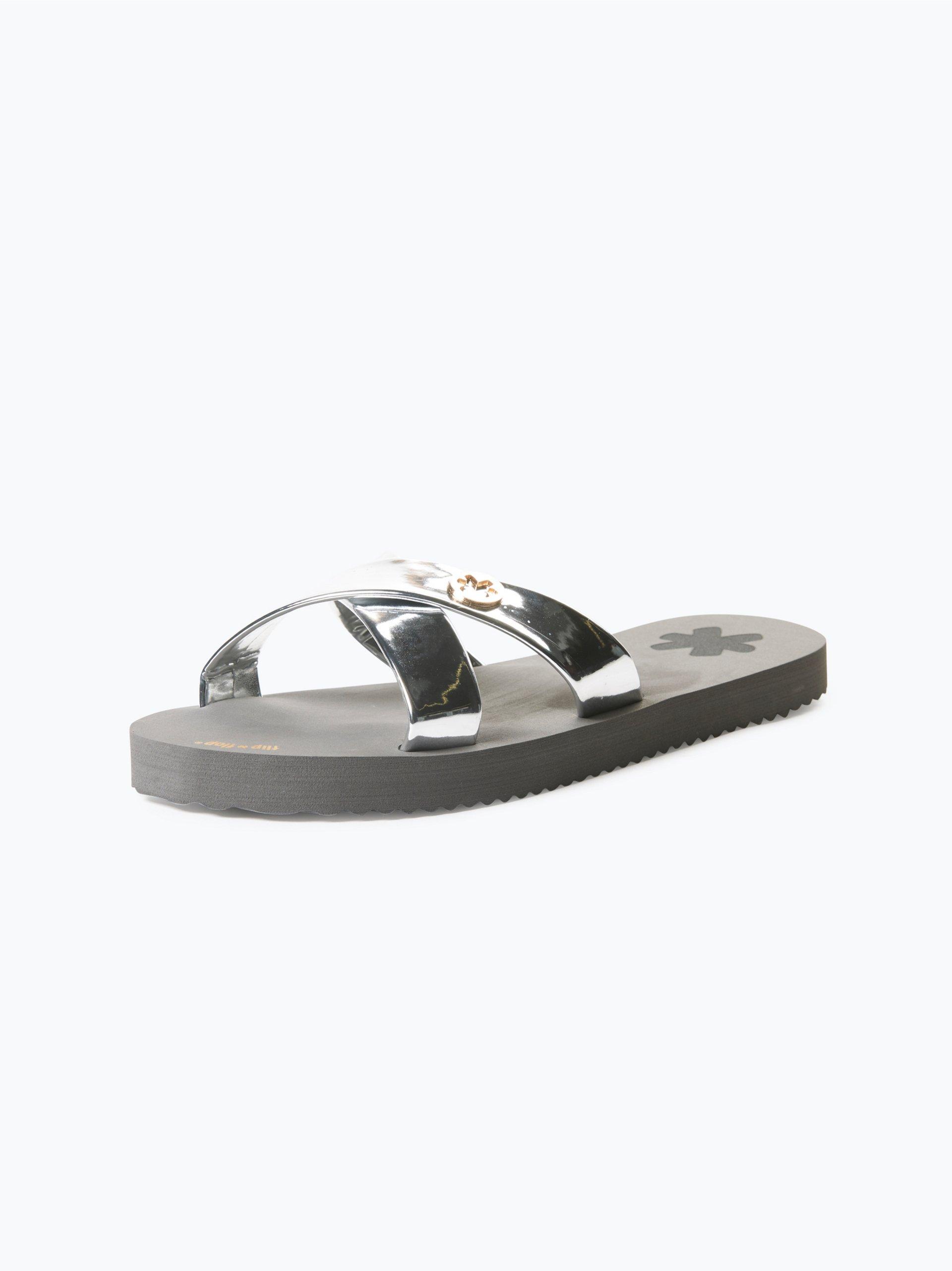 flip flop damen sandalen silber uni online kaufen peek und cloppenburg de. Black Bedroom Furniture Sets. Home Design Ideas