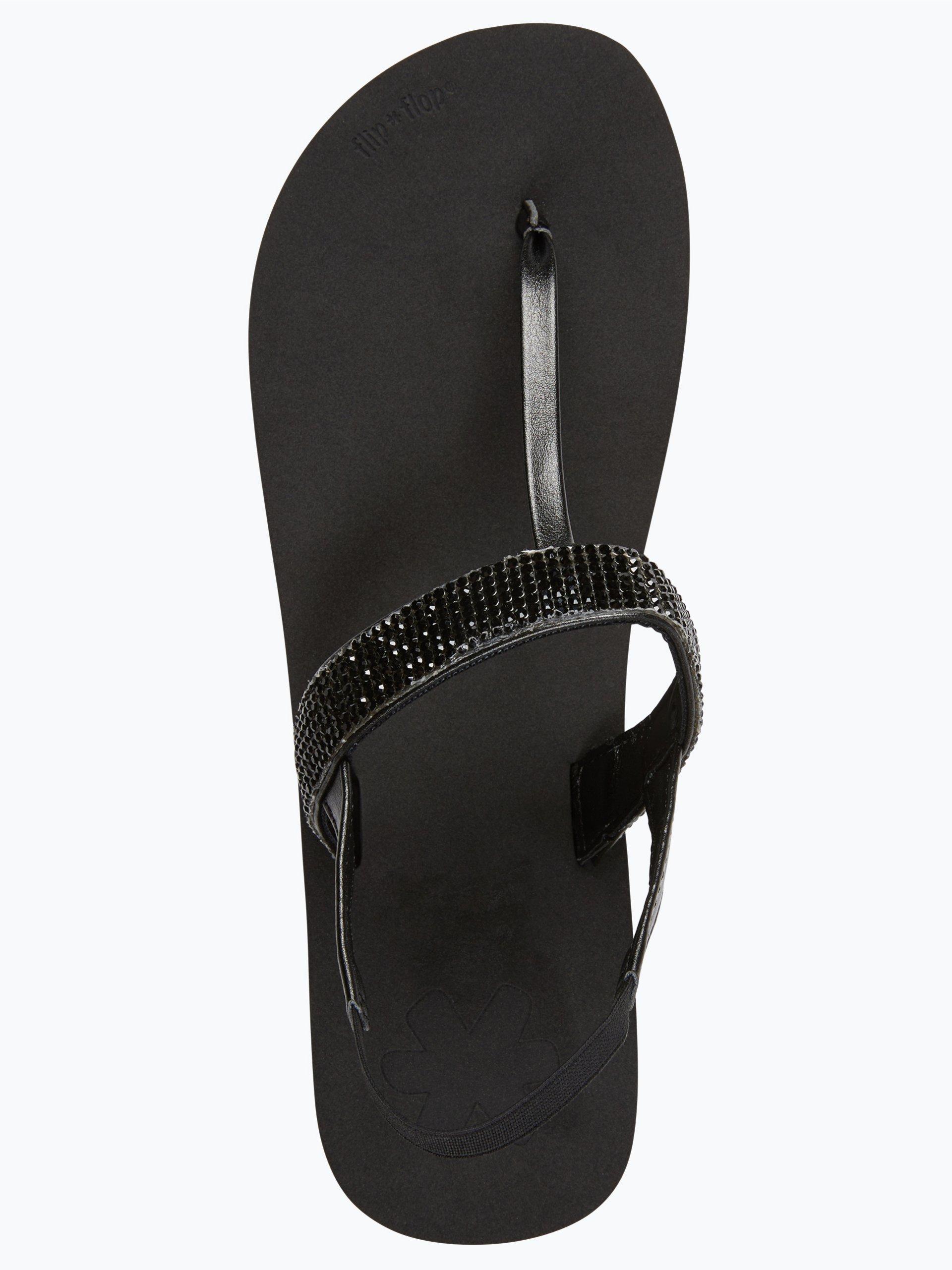 flip flop damen sandalen schwarz uni online kaufen vangraaf com. Black Bedroom Furniture Sets. Home Design Ideas