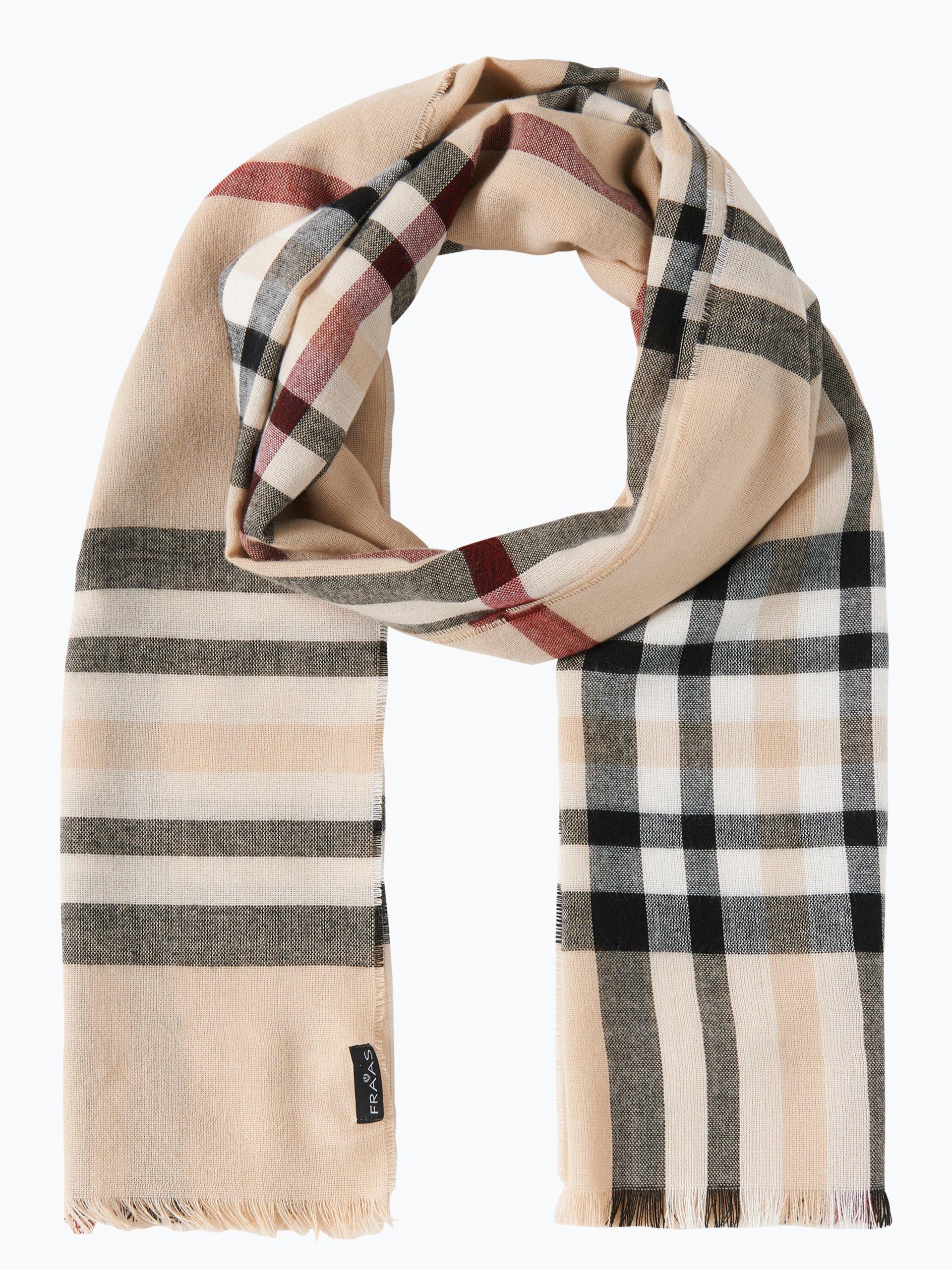 Fraas damen schal beige kariert online kaufen peek und for Schal binden damen