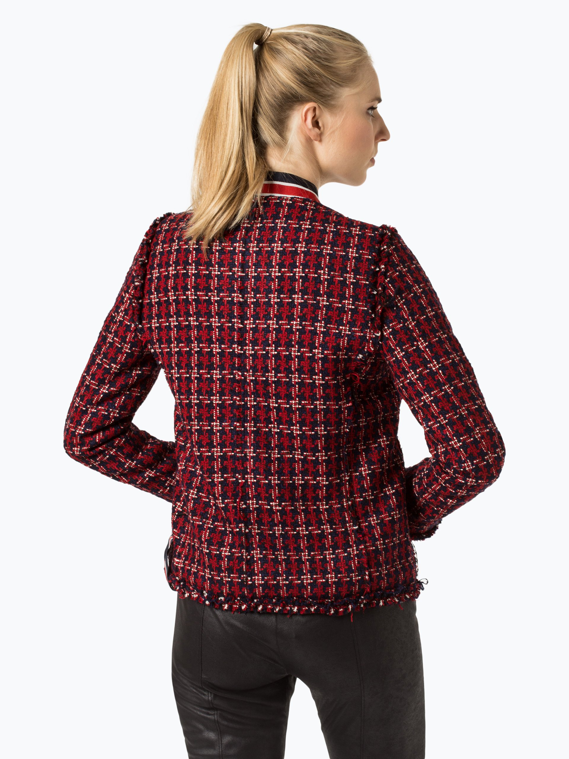 franco callegari damen blazer rot gemustert online kaufen peek und cloppenburg de. Black Bedroom Furniture Sets. Home Design Ideas